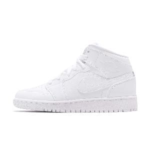 b17502c59520 Nike Air Jordan 1 Low Mid Trible White AJ1 I Men Women Kids Baby TD ...