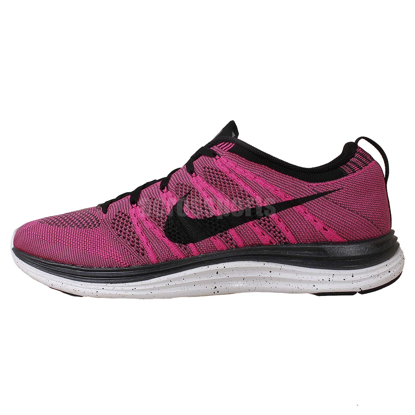Nike Flyknit One Mens Lunarlon Lunar 1 Trainers Pink Black ...