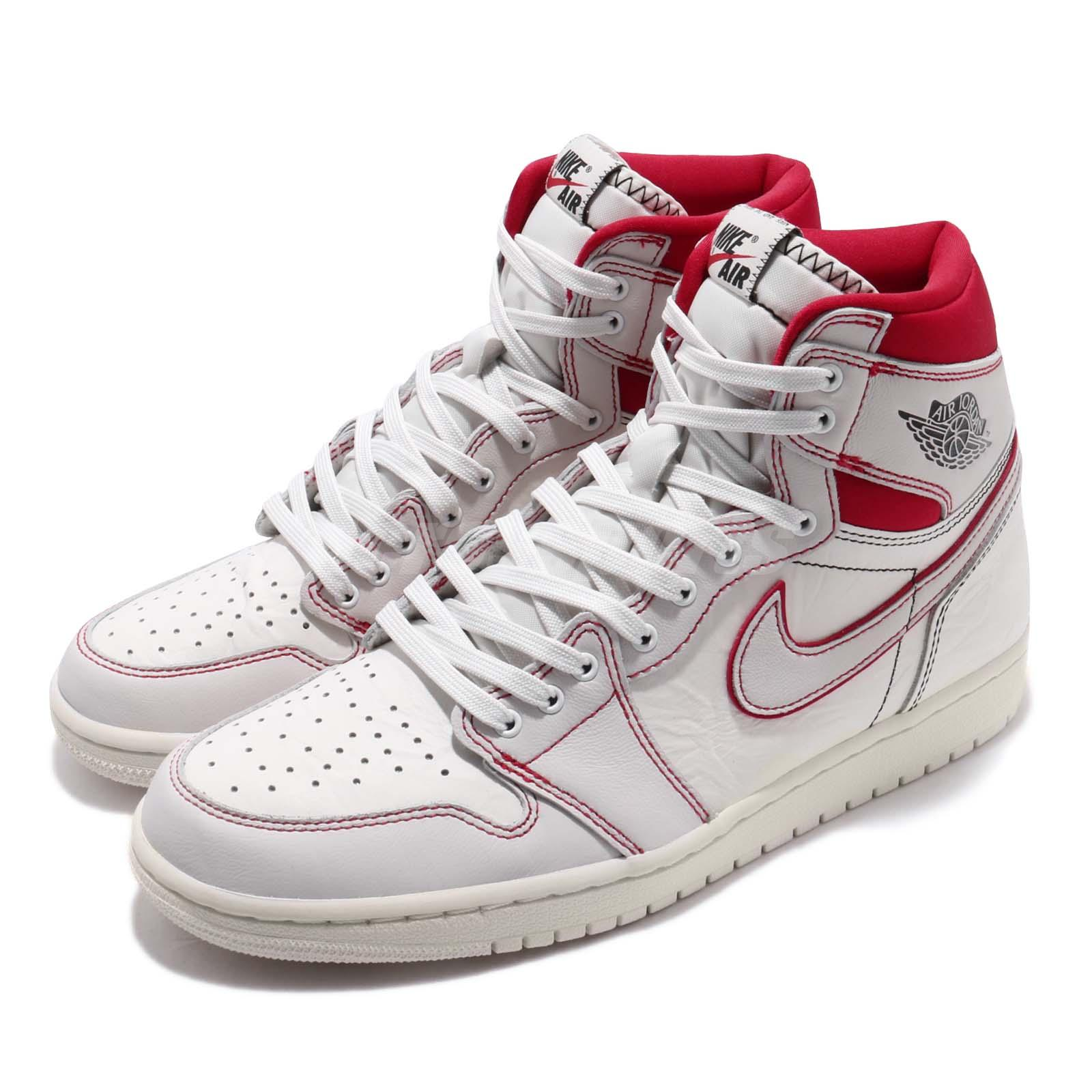for whole family good texture best choice Details about Nike Air Jordan 1 Retro High OG Phantom Sail Red AJ1 Sneakers  555088-160