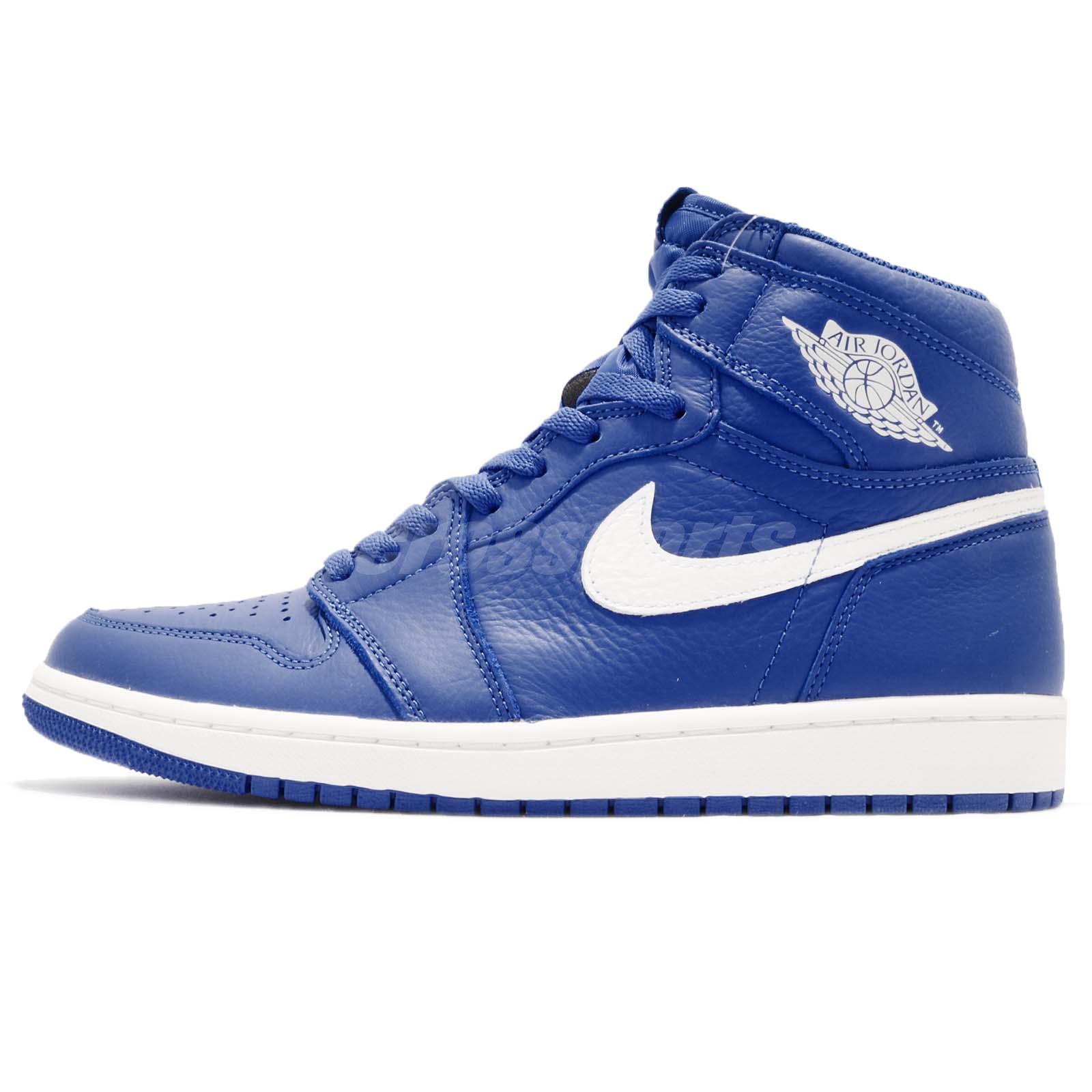 54e84044d32738 Nike Air Jordan 1 Retro High OG I AJ1 Hyper Royal Sail Men Shoes 555088-401