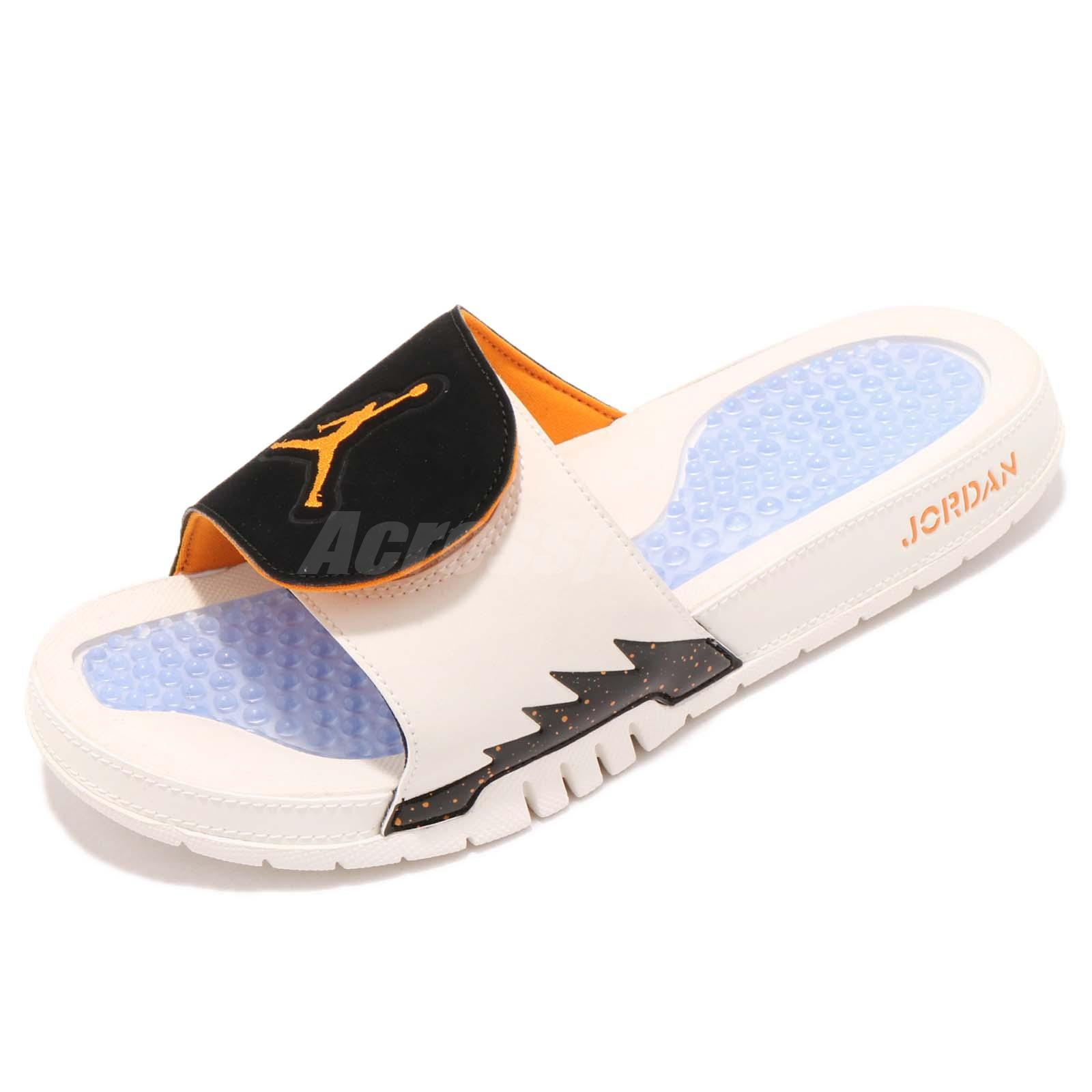 pretty nice e666f 96e7d Nike Jordan Hydro V Retro 5 Sail Orange Peel Men Sports Sandals Slide  555501-118