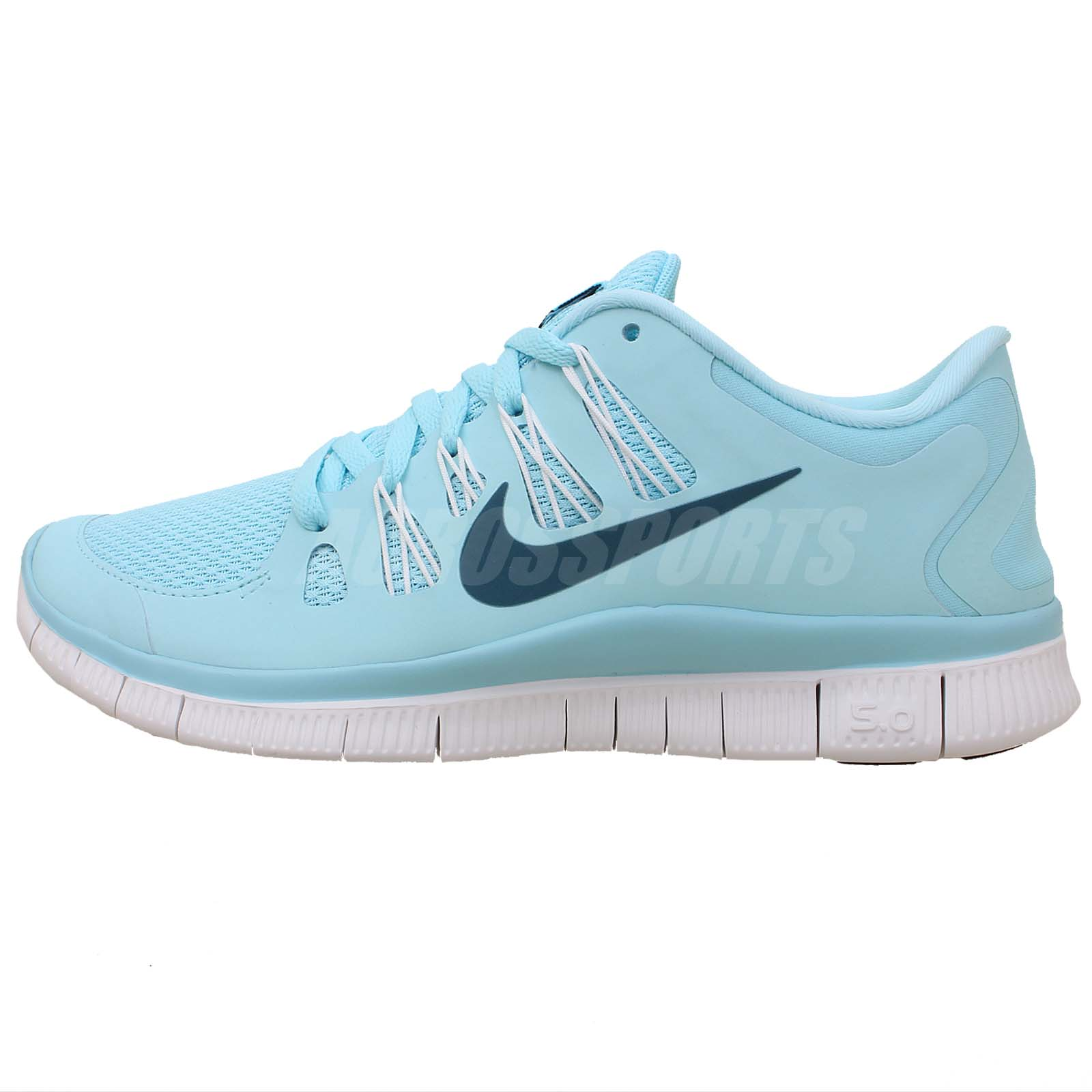 Nike Wmns Free 5.0 Blue White 2014 Womens Running Shoes ...