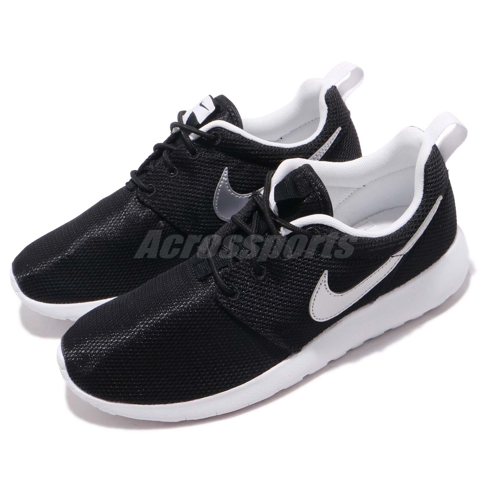 detailed look a0a58 cc551 Details about Nike Roshe One GS Black White Rosherun Kids Youth Running  Shoes 599728-021