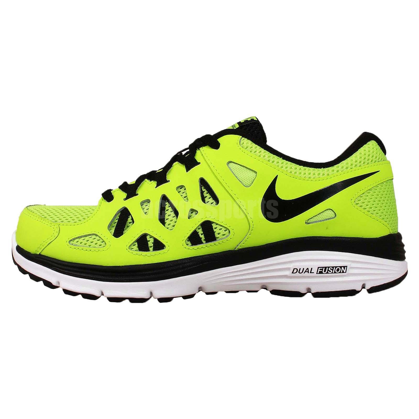 Nike Dual Fusion Run 2 GS Volt Black Kids Youth Running