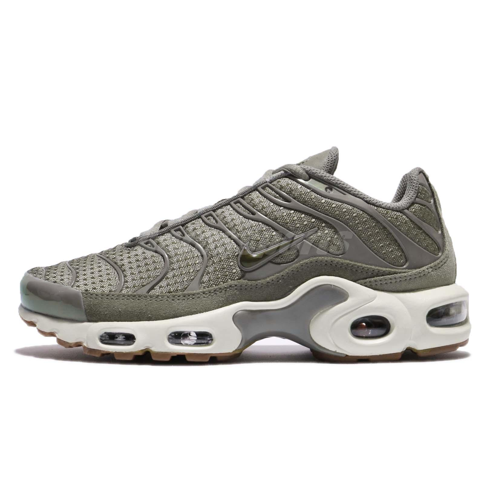 huge selection of bf849 e0dac Nike Wmns Air Max Plus Dark Stucco Vintage Green Sail Women Running  605112-053