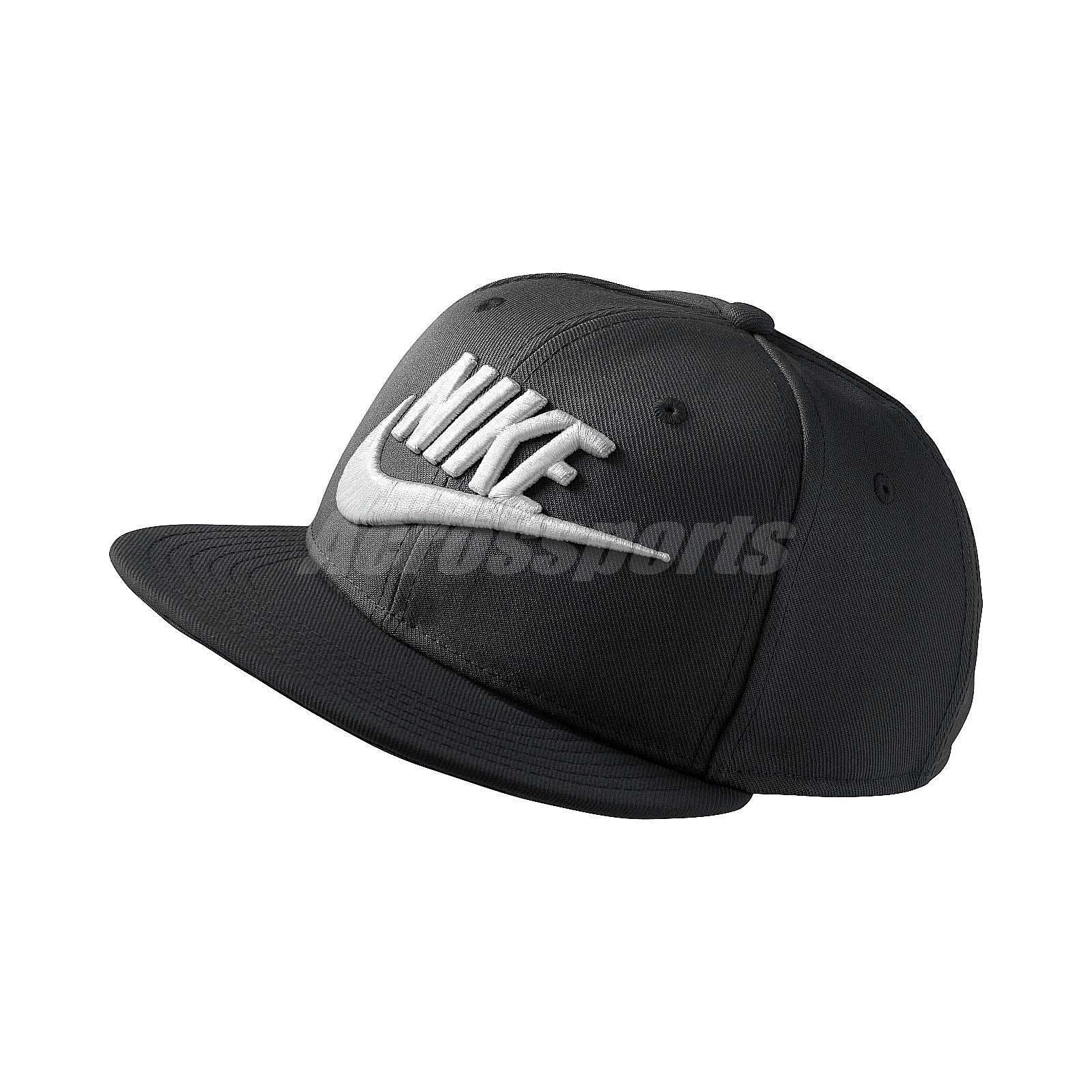 Details about Nike True Cap Futura Snapback Hat Black White Sports Running  Baseball 614590-010 343fa9659a2