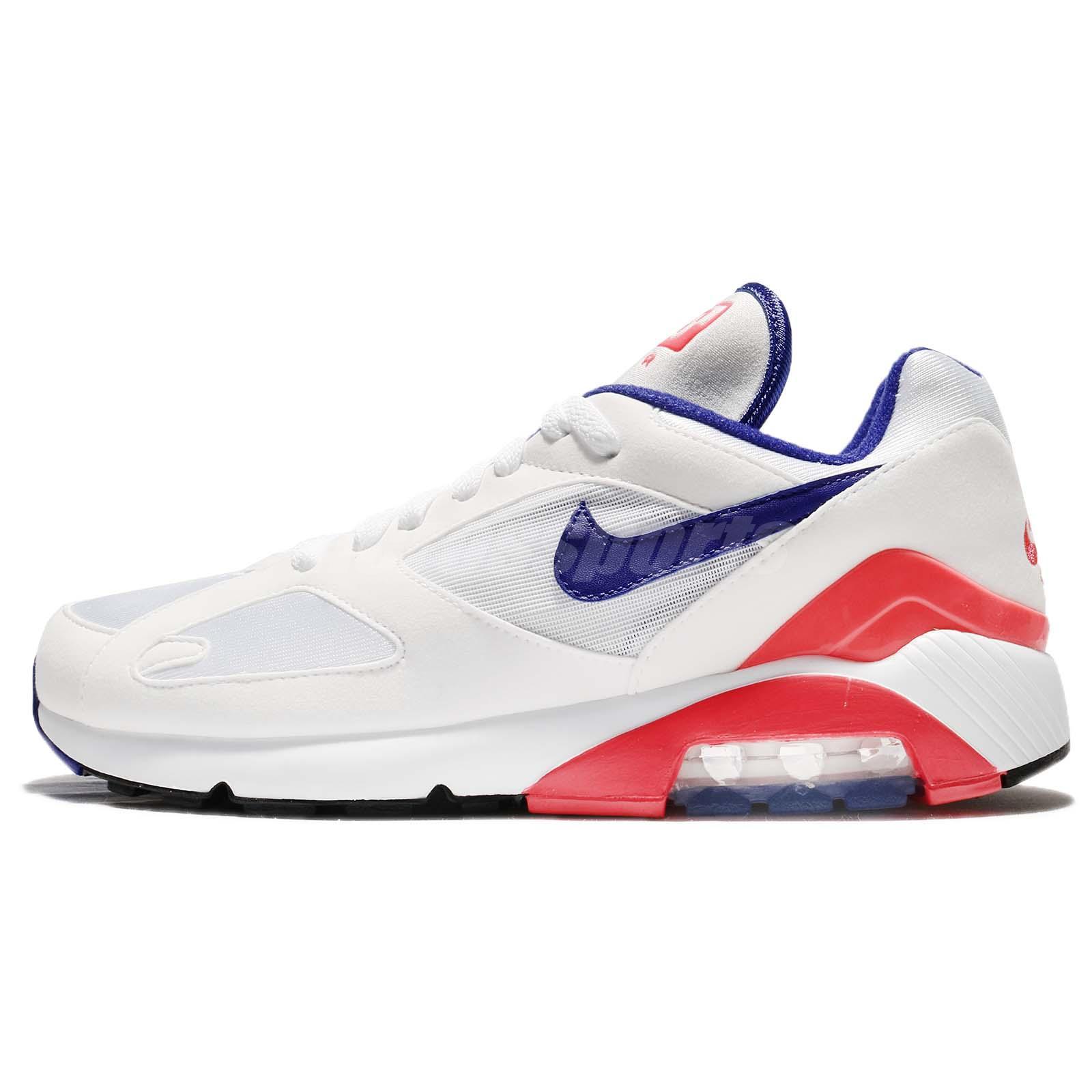 new product 8bfd5 dc0f3 Nike Air Max 180 OG Ultramarine Pack White Solar Red Men Running Shoe  615287-100