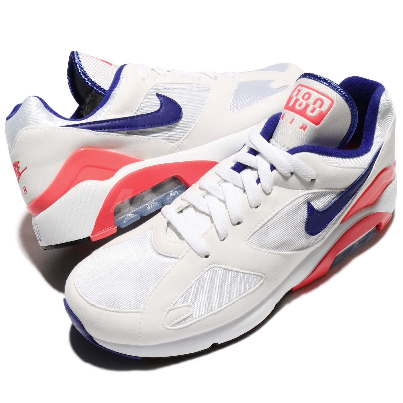 on sale a7aaf 19fa3 Details about Nike Air Max 180 OG Ultramarine Pack White Solar Red Men  Running Shoe 615287-100
