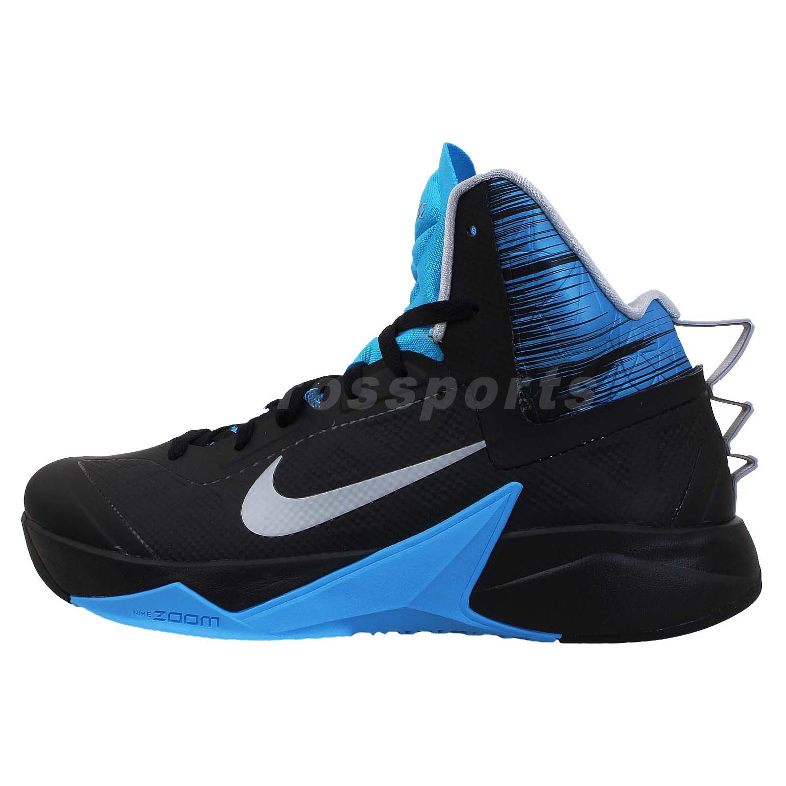 Nike Zoom Hyperfuse 2013 XDR Black Blue Mens Basketball ...