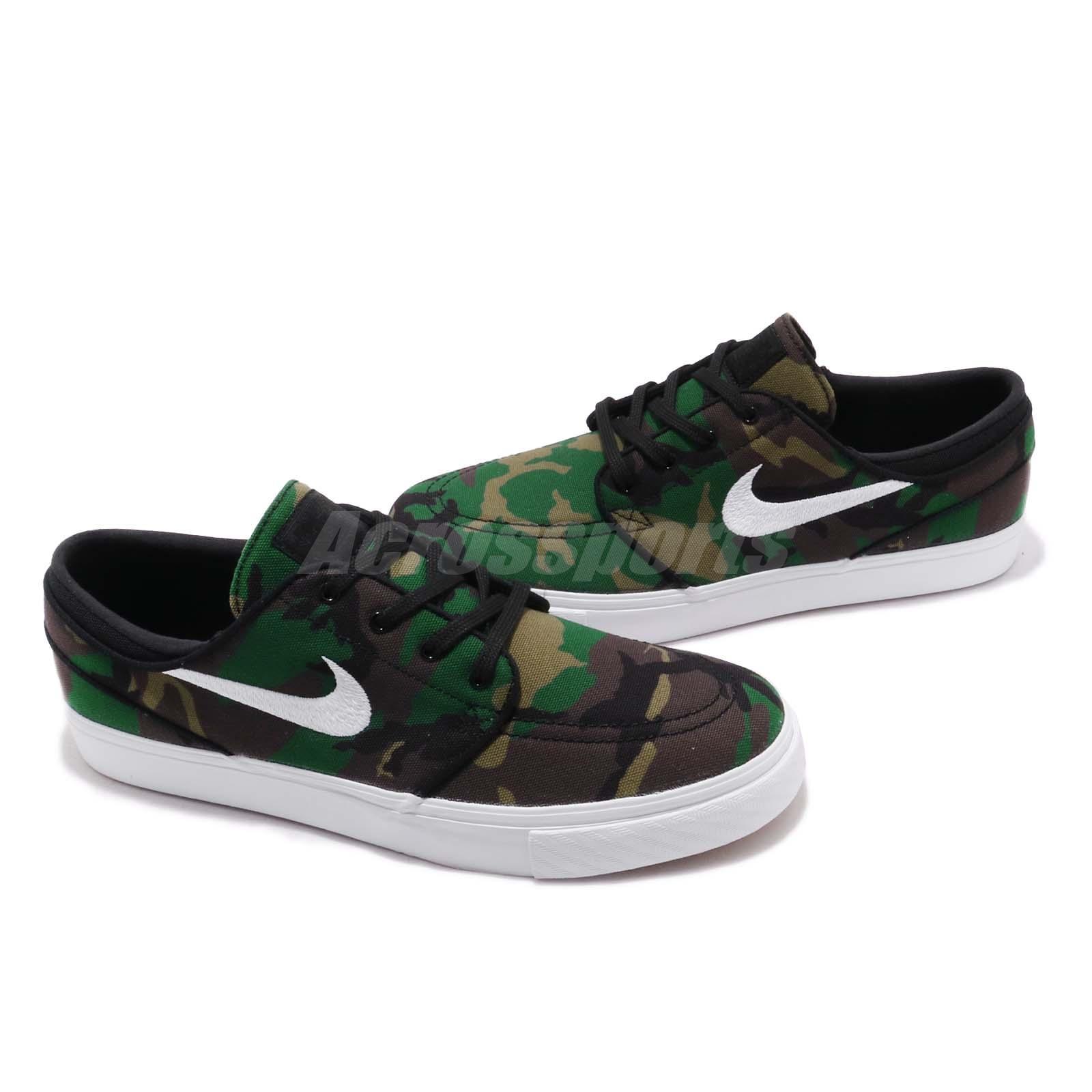 size 40 84f37 2b964 Nike SB Zoom Stefan Janoski CNVS Canvas Camo Mens Skateboard