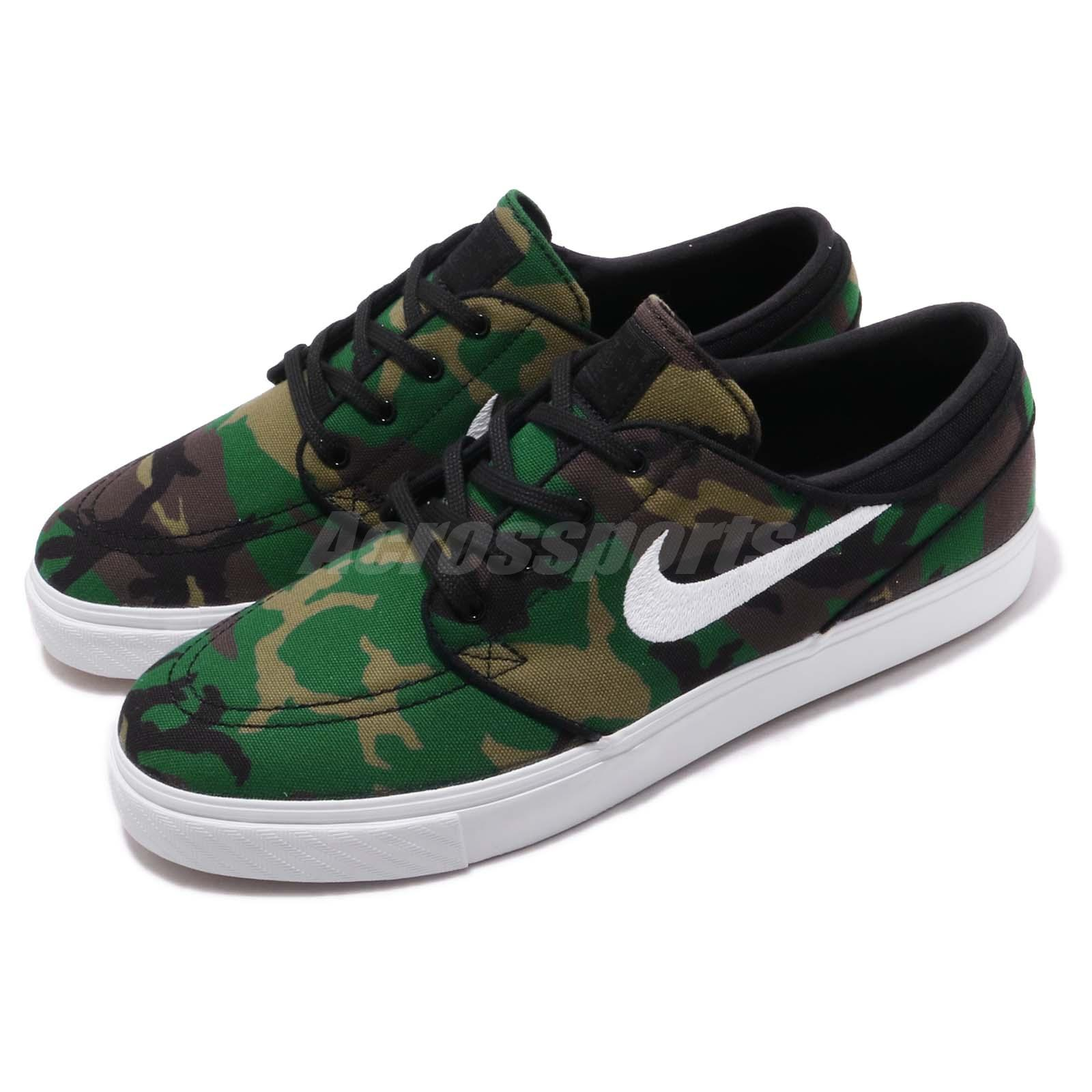 a420f96262ce9 Details about Nike SB Zoom Stefan Janoski CNVS Canvas Camo Mens  Skateboarding Shoes 615957-901