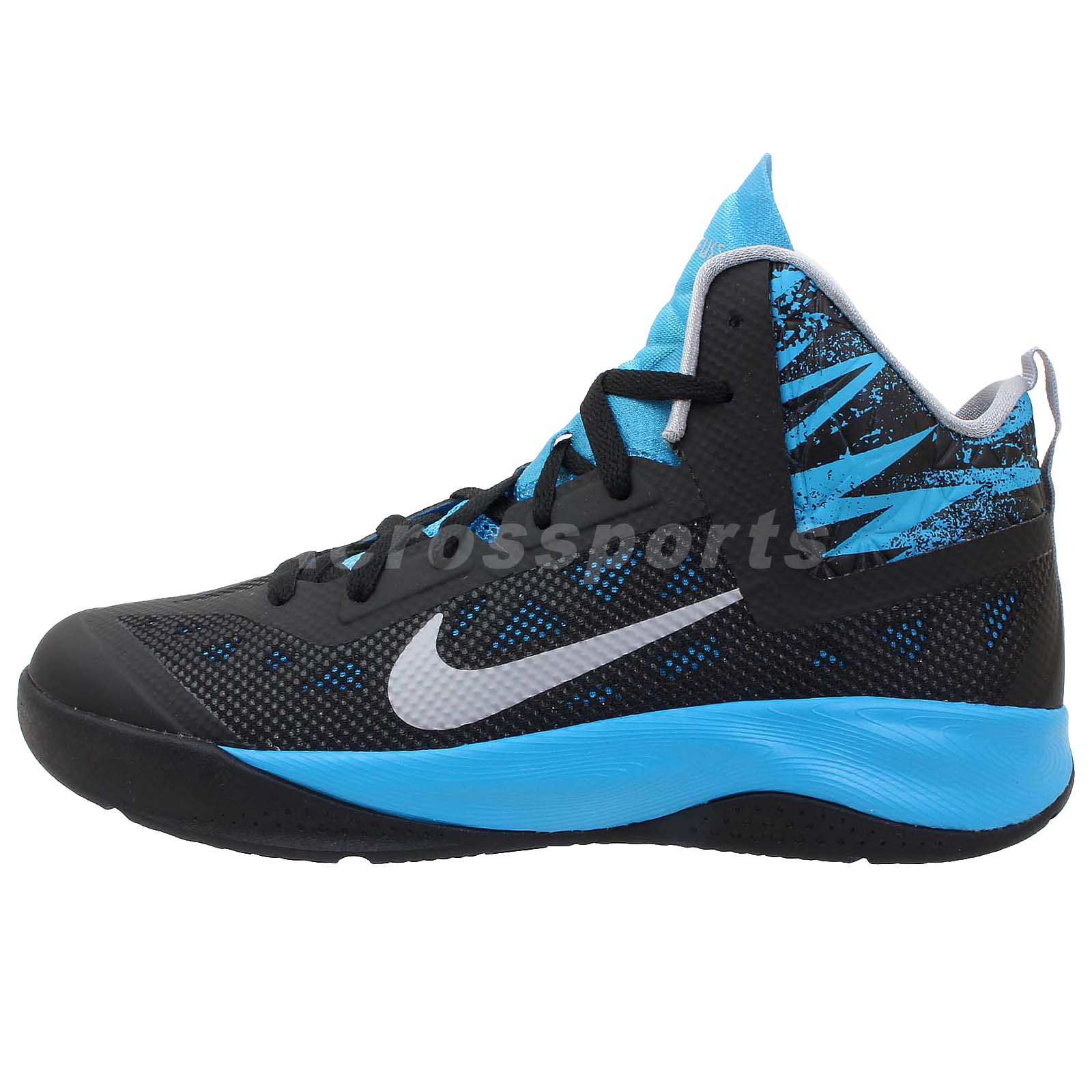 Nike Hyperfuse 2013 GS Black Blue 2014 Boys Youth Womens ...