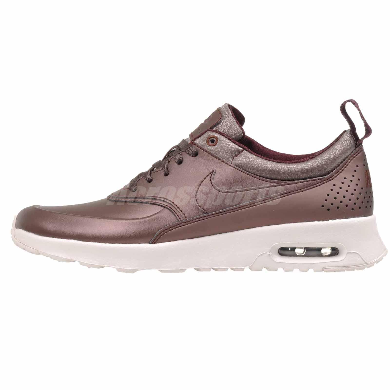 Details about Nike Wmns Air Max Thea PRM Running Premium Shoes Mahogany 616723 900