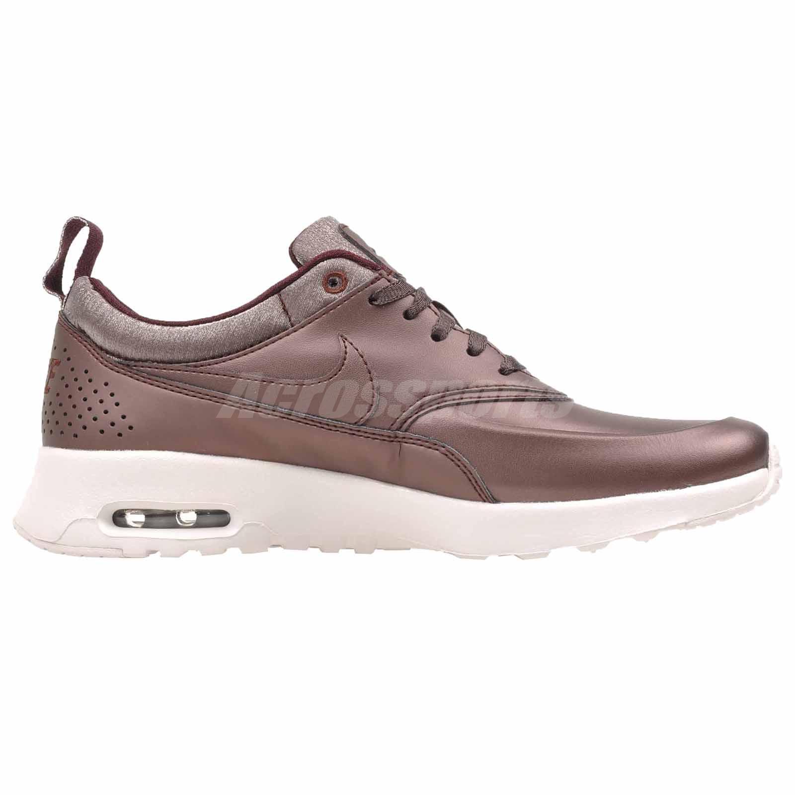 Nike Air Max Thea Prm Womens 616723-900 Metallic Mahogany Running Shoes Size 5