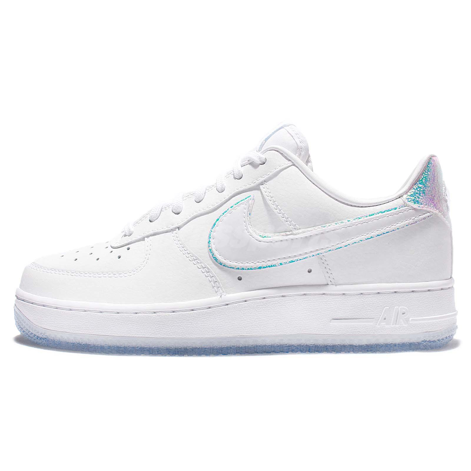 Wmns Nike Air Force 1 07 PRM White Iridescent Women Classic Shoes AF1  616725-105