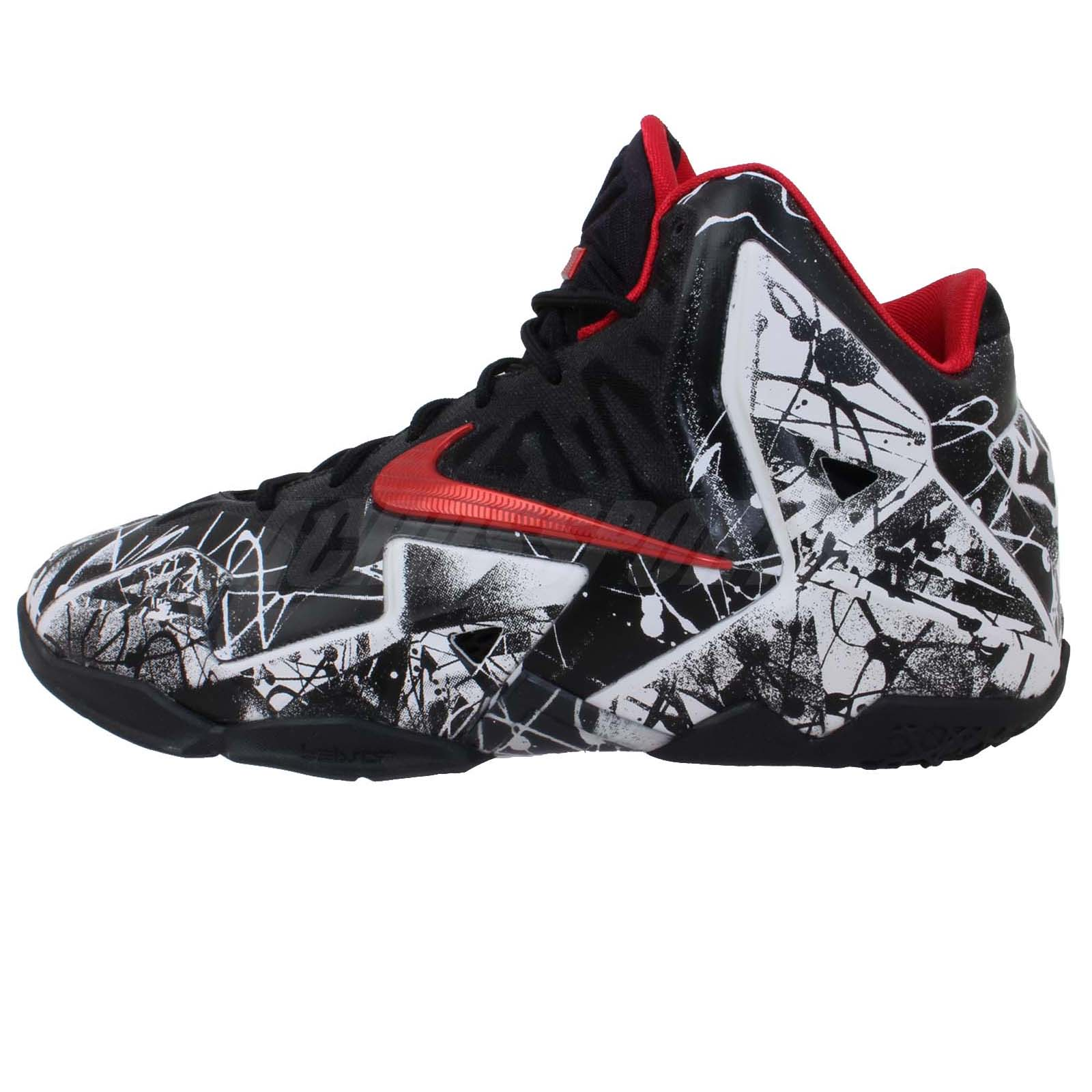 Nike Lebron XI GS 11 Graffiti White Black Boys Kids Youth ...