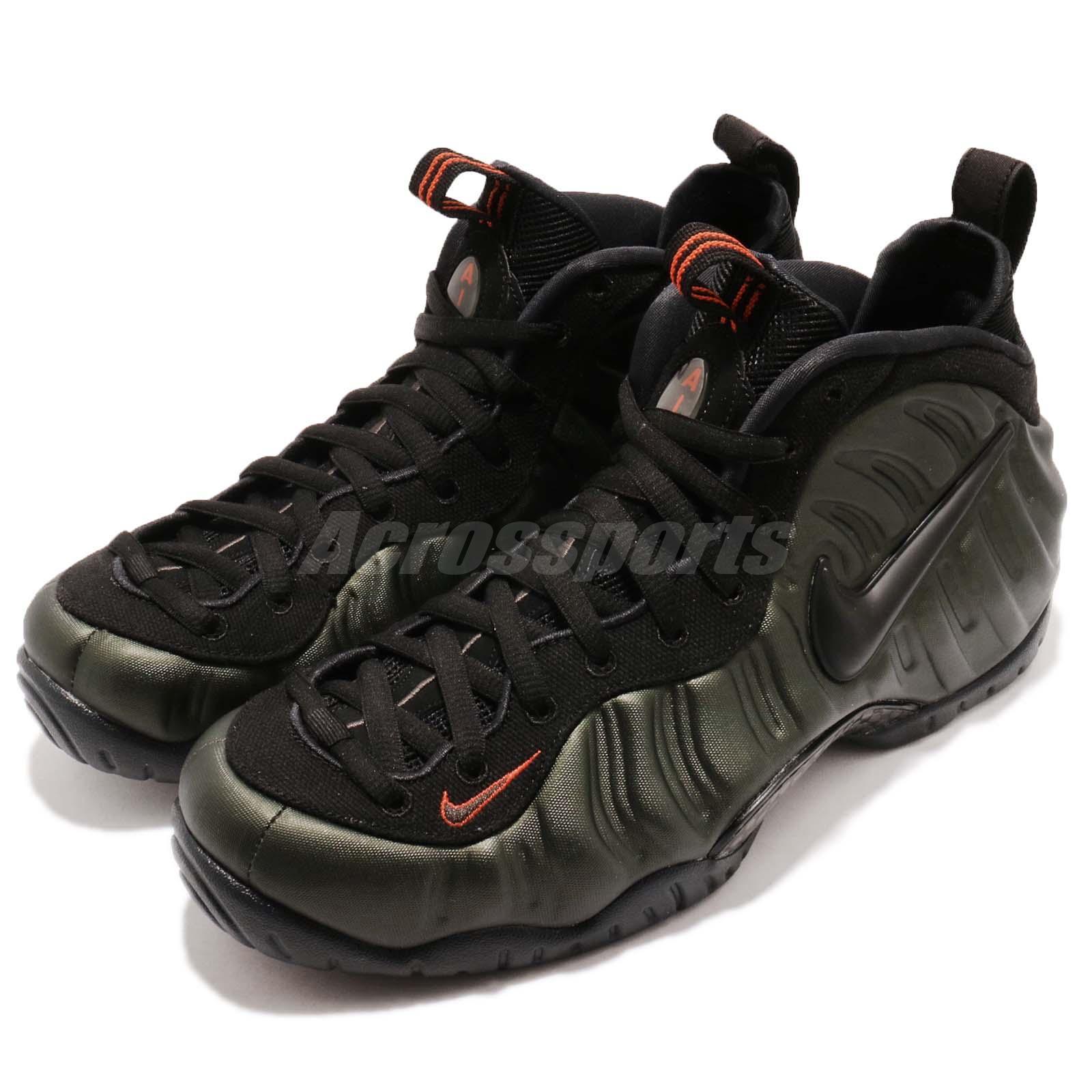 1f540cb340a Details about Nike Air Foamposite Pro Sequoia Black Team Orange Men Shoes  Sneakers 624041-304