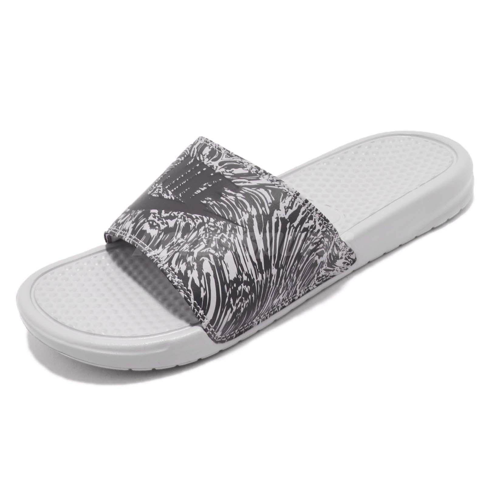 9fbbd8dcc328 Nike Benassi JDI Print Grey Anthracite Men Sports Sandals Slides 631261-005