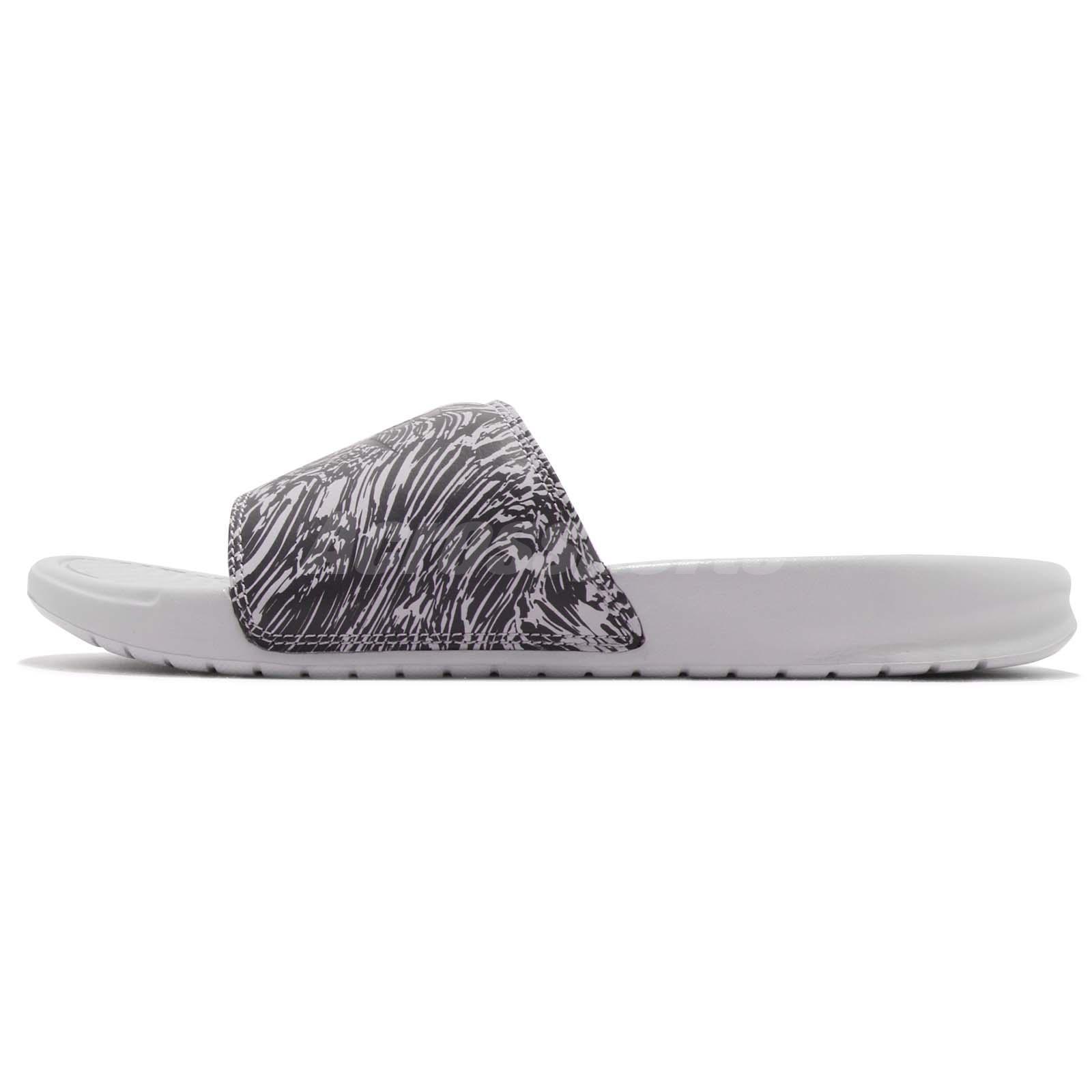 4ccdaa4bc042 Nike Benassi JDI Print Grey Anthracite Men Sports Sandals Slides ...