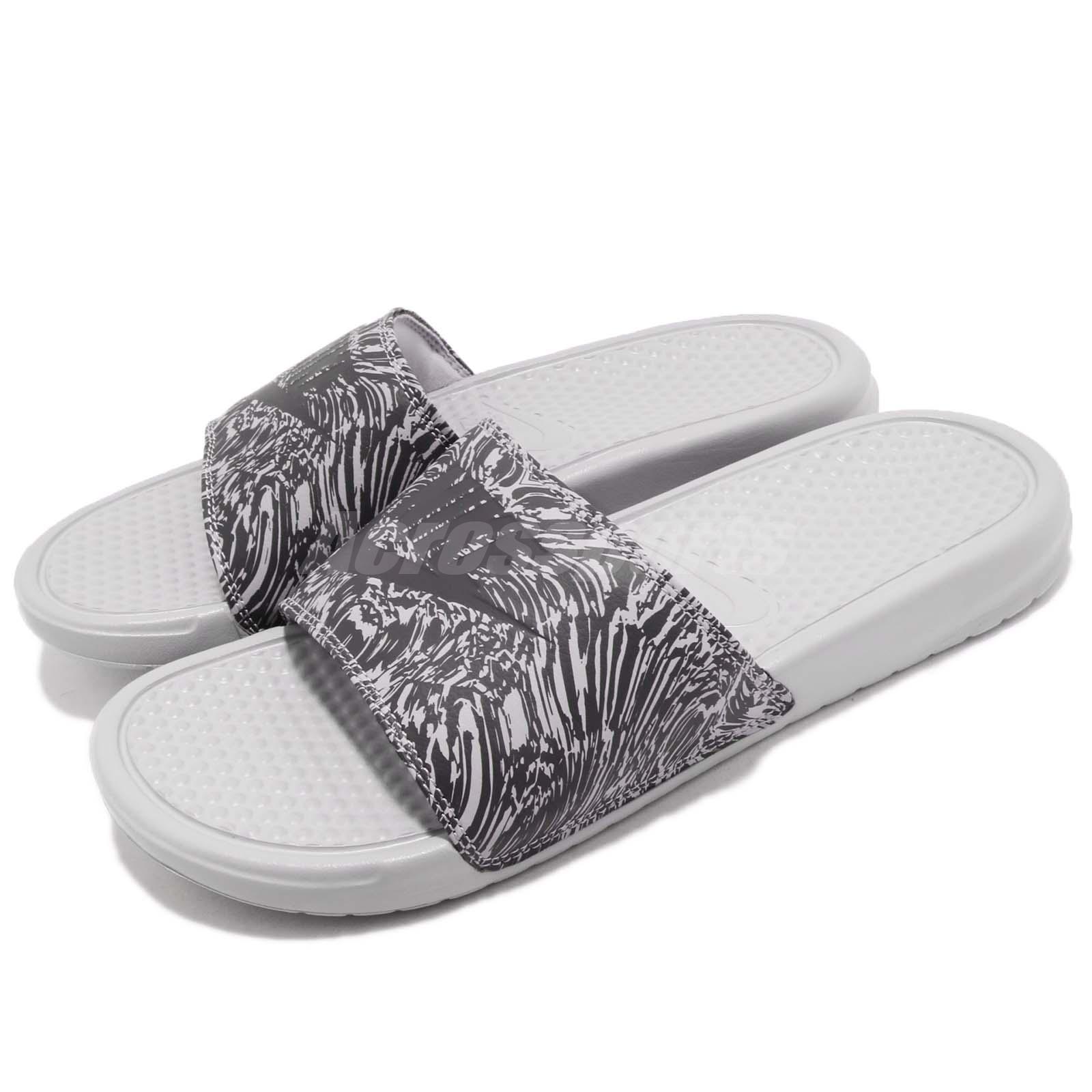 size 40 269ee 12682 Details about Nike Benassi JDI Print Grey Anthracite Men Sports Sandals  Slides 631261-005