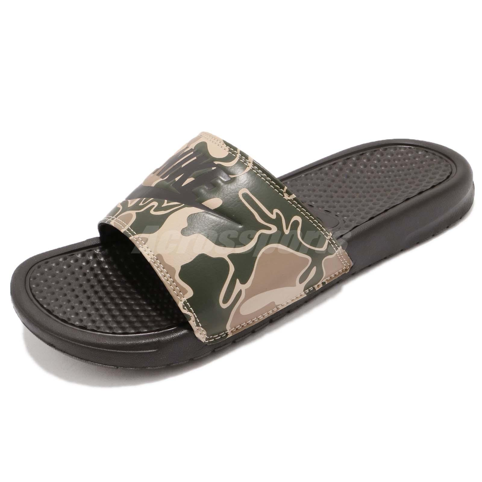 4ee4f97501a7 Nike Benassi JDI Print Velvet Brown Green Camo Men Sports Sandals 631261-202