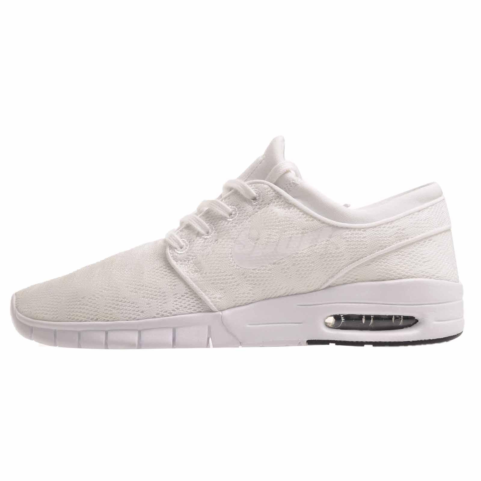 pretty nice 1d21e f65ee Details about Nike Stefan Janoski Max Skate Boarding Mens SB Shoes  White White 631303-114