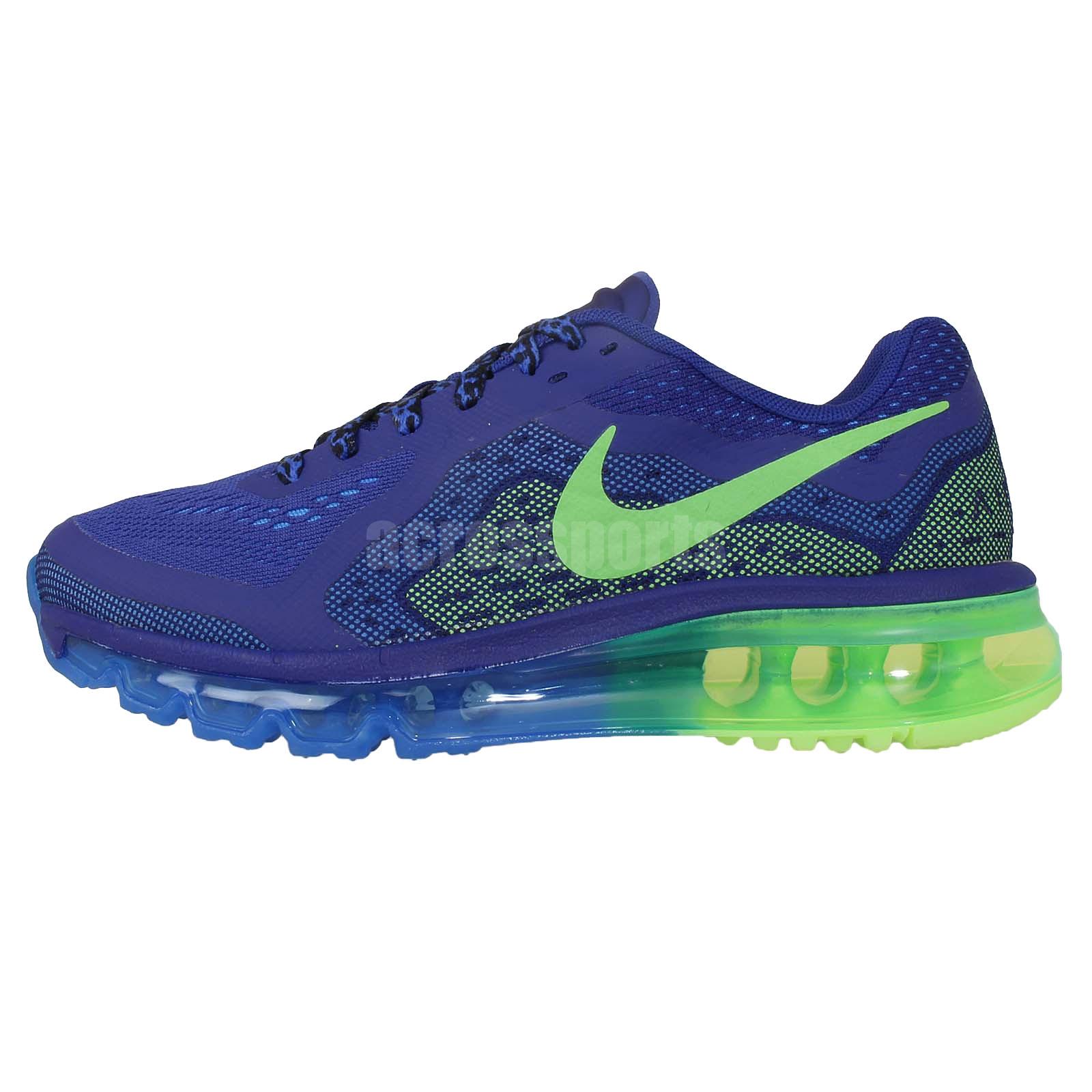 Nike Air Max 2014 GS Blue Green 2014 Youth Girls Boys ...