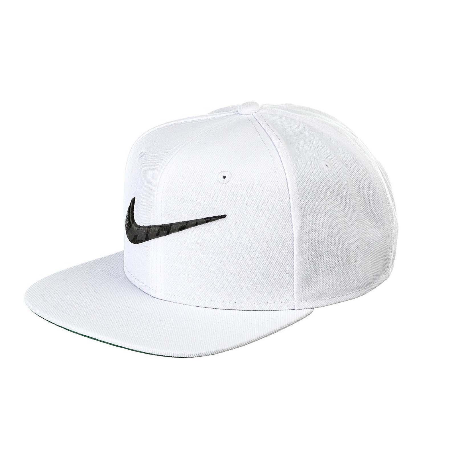 Nike Swoosh Pro White Black Embroidery Snapback Adjustable Hat Sports  639534-100 e12c07085a8