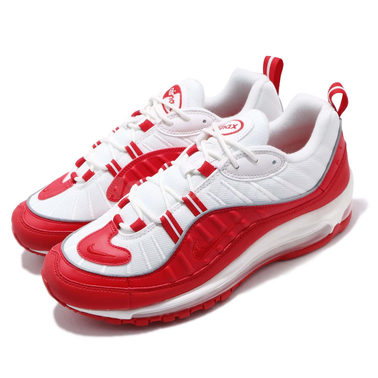 the latest 21fe1 8397d Details about Nike Air Max 98 University Red White Mens Running Shoes NSW  Sneakers 640744-602