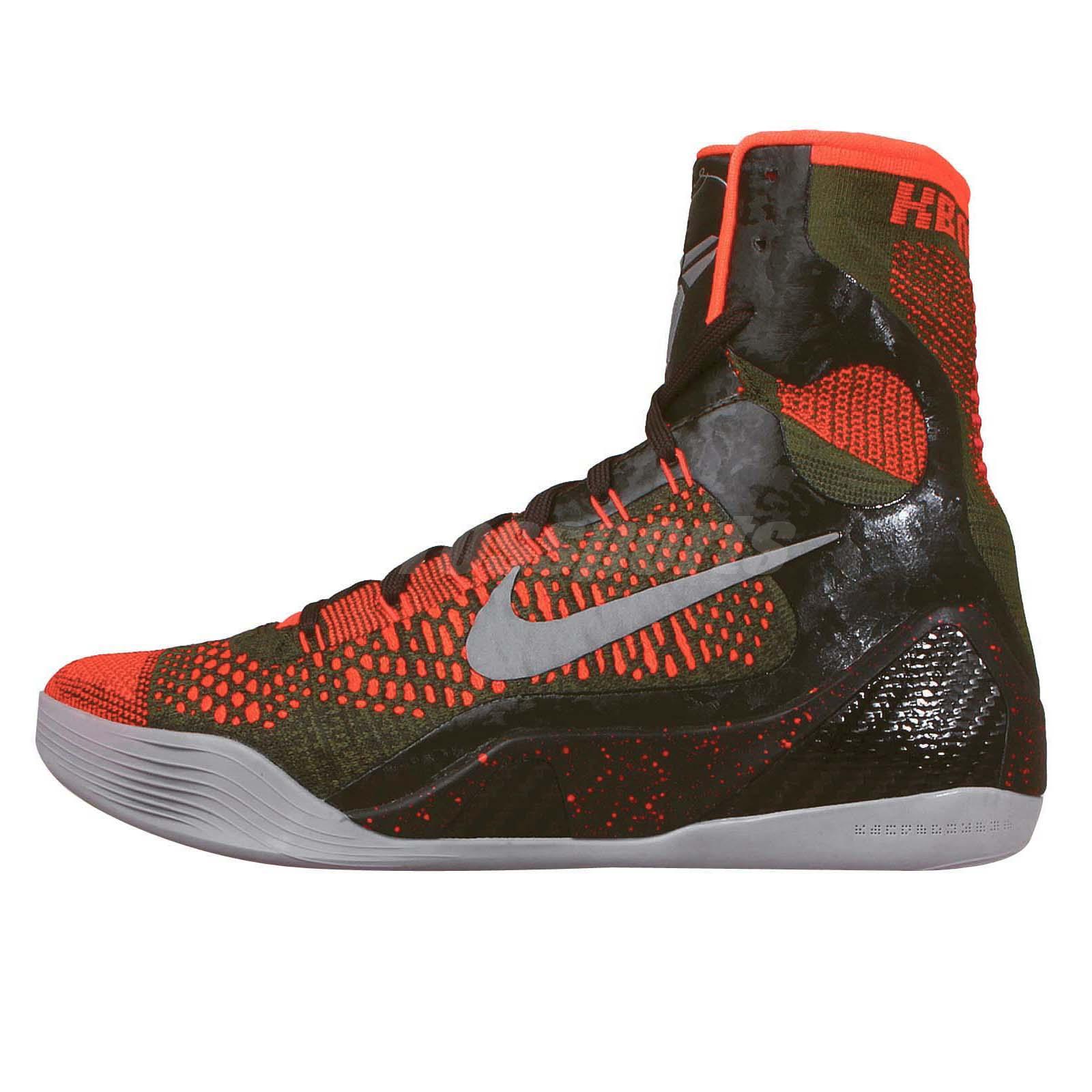 Nike Kobe IX Elite XDR 9 Strategy Kobe Bryant Orange Green ...