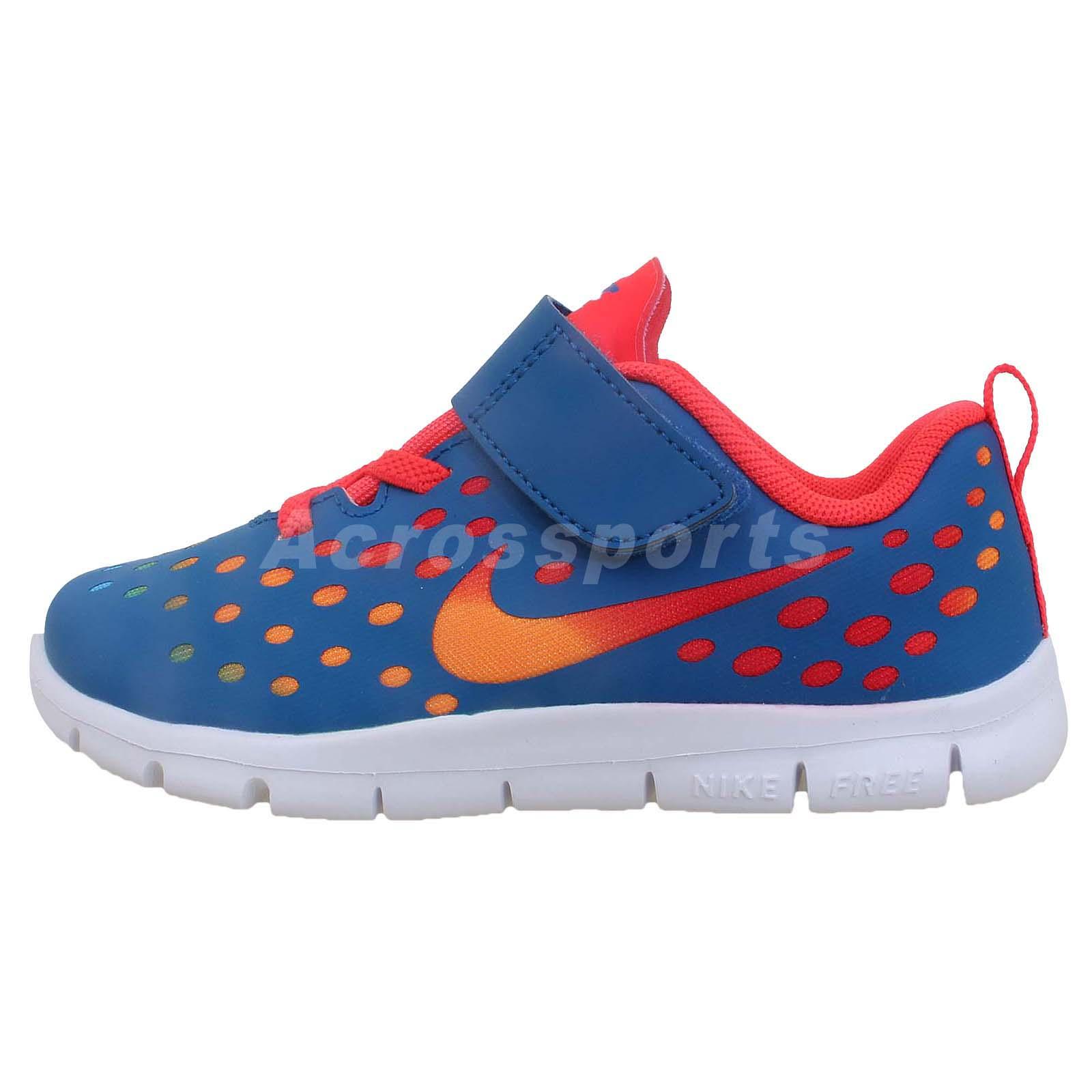Nike Free Express TDV Blue Run Toddler Velcro Baby Walking