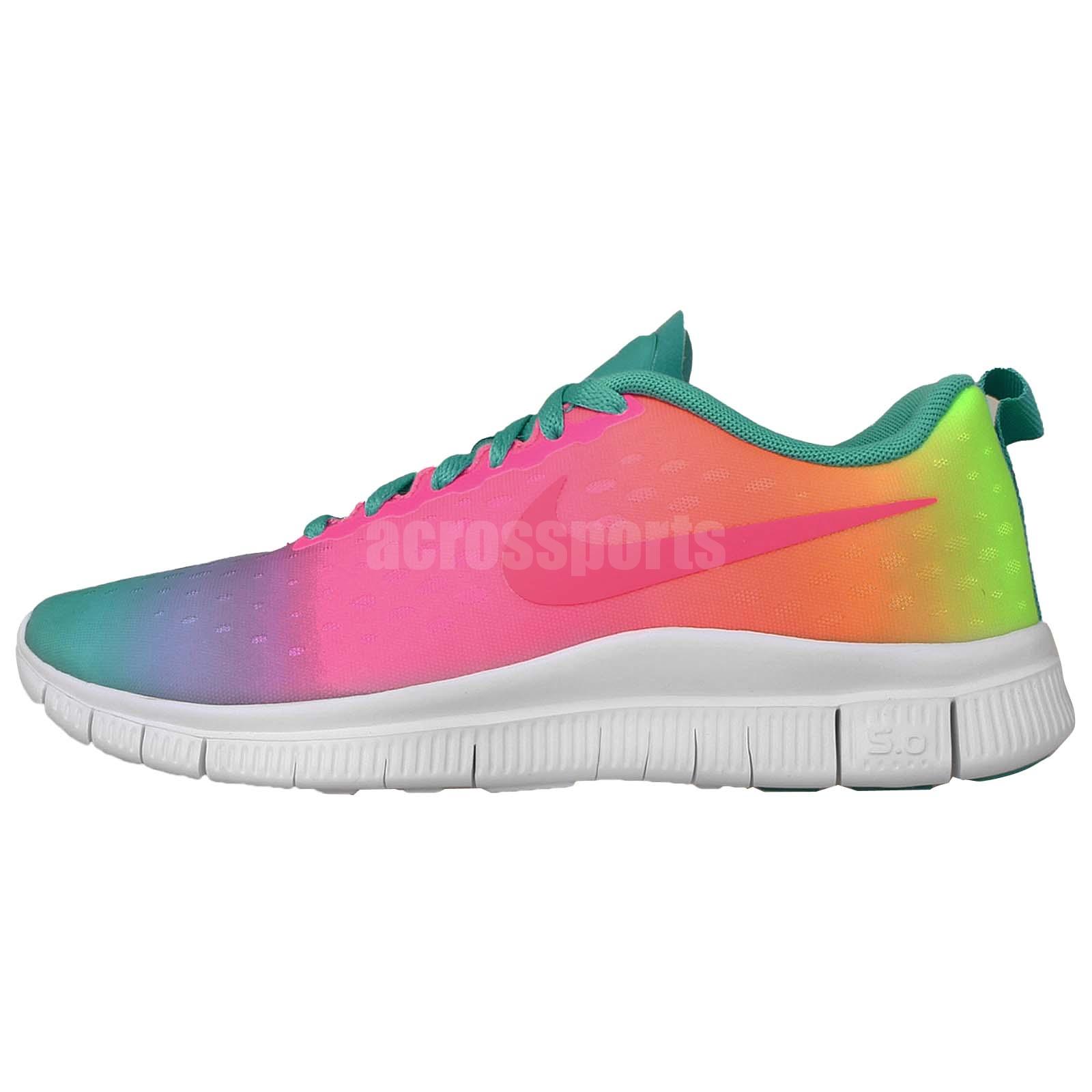 Girls Rainbow Nike Shoes