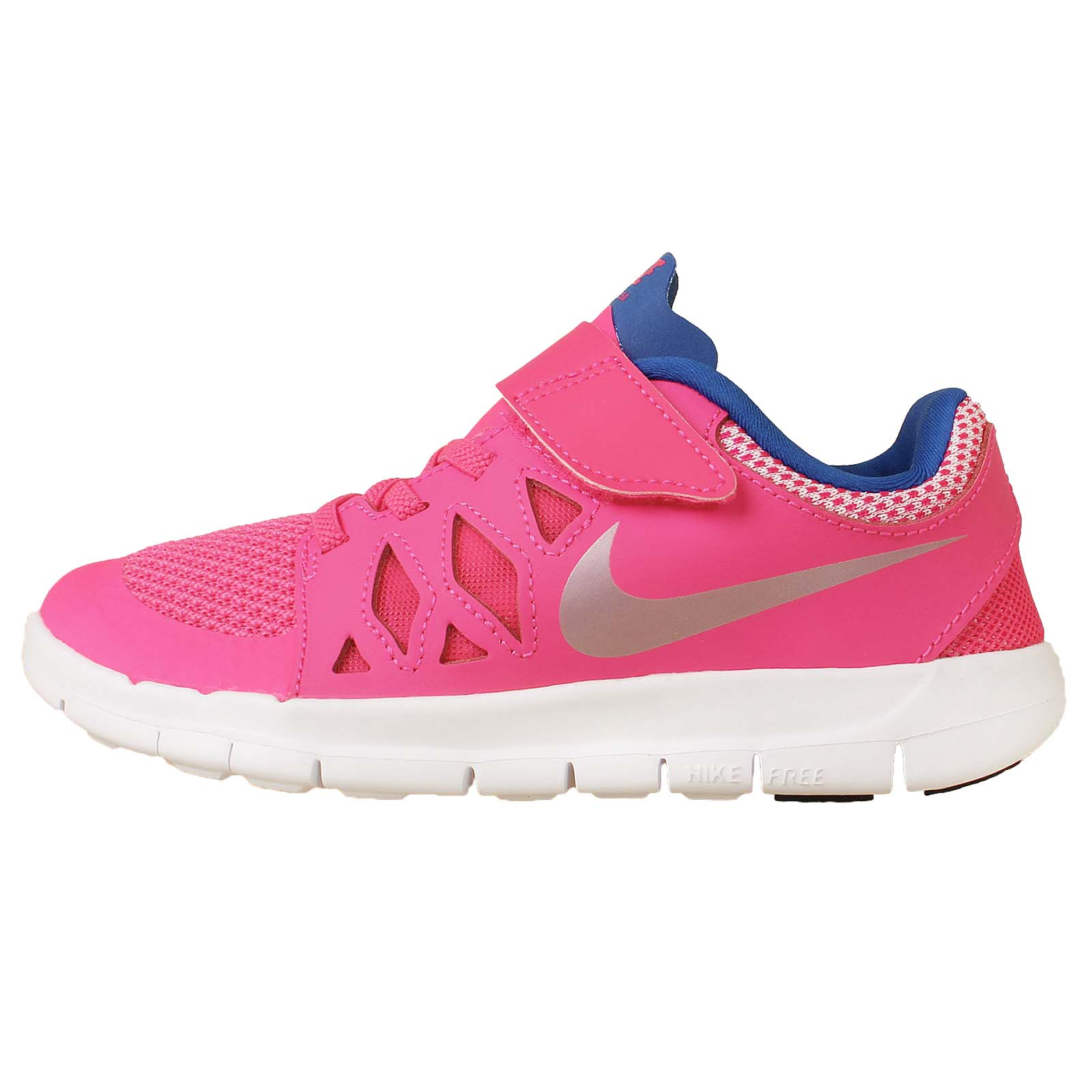 nike free 5 psv 5 0 run 2 3 pink blue preschool velcro. Black Bedroom Furniture Sets. Home Design Ideas