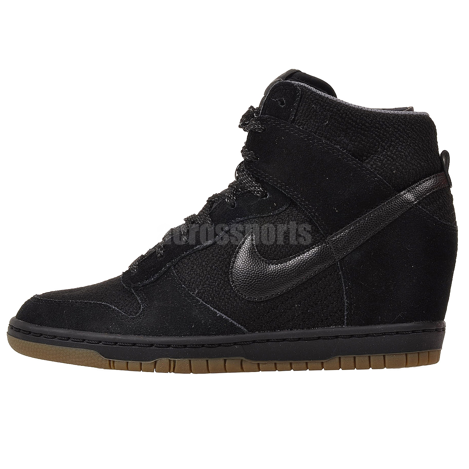 Nike Wmns Dunk Sky Hi Essential Black Womens Fashion Wedge ...