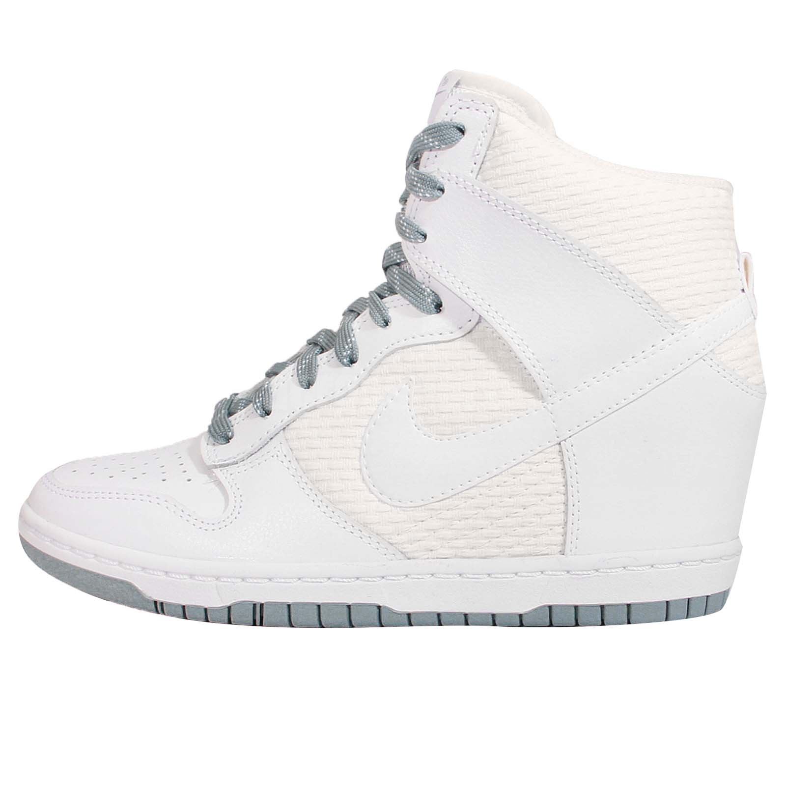 Nike Sky Hi Dunk Wedge Pale Grey Blue Color Shoes White Nike Shoes ... dc2e72c2b