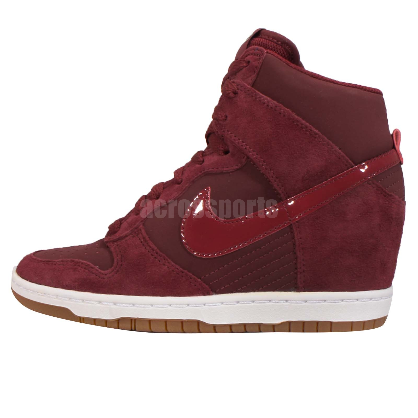 wholesale dealer e1cda e20d4 ... Wmns Nike Dunk Sky Hi Essential Red Brown Womens Fashion Wedge Shoes  644877-603 ...