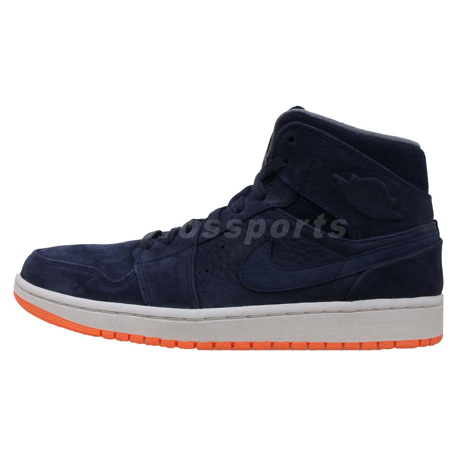 42d46ea6cea Nike Air Jordan 1 Mid Navy Orange