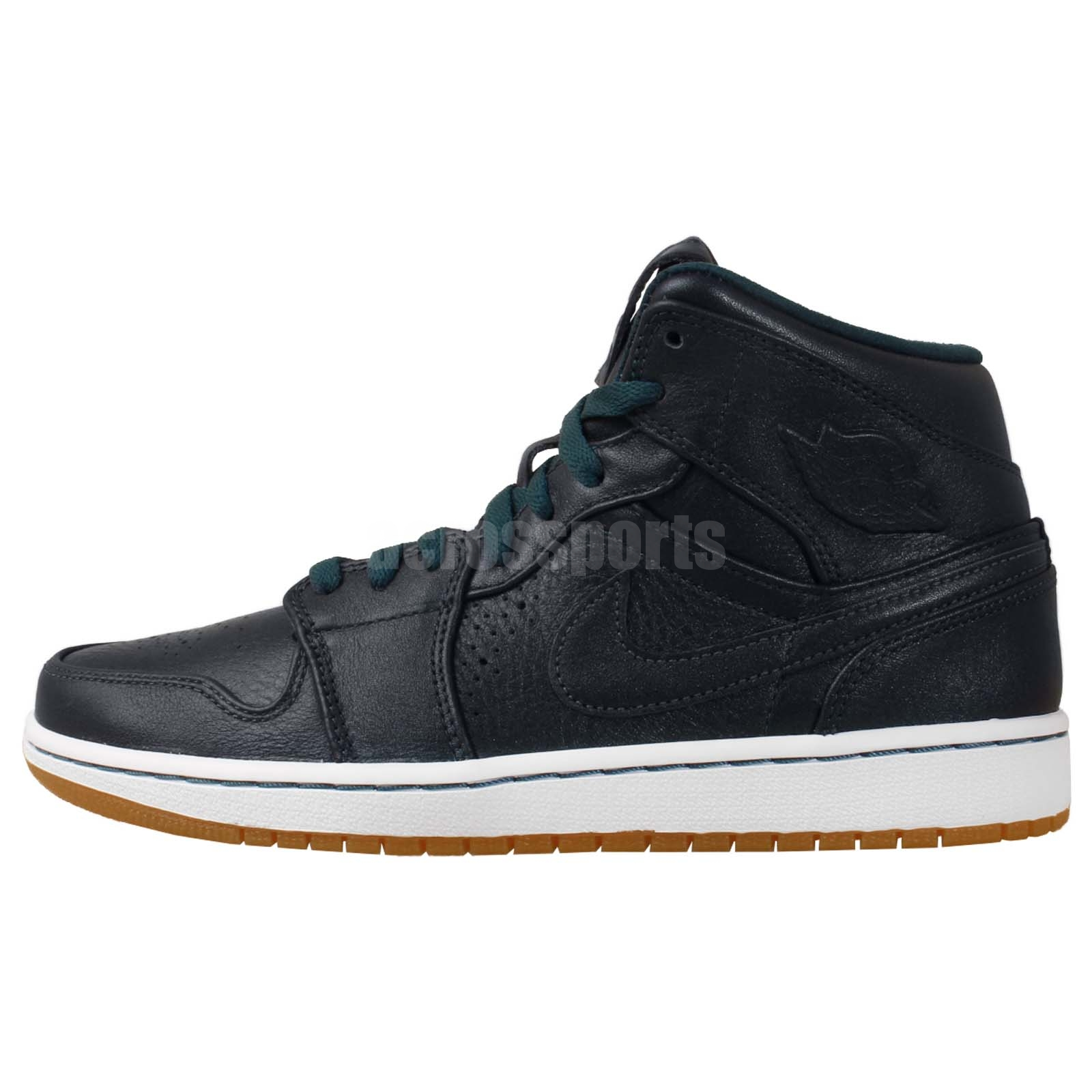 nike air jordan 1 mid nouveau aj1 navy mens shoes leather. Black Bedroom Furniture Sets. Home Design Ideas