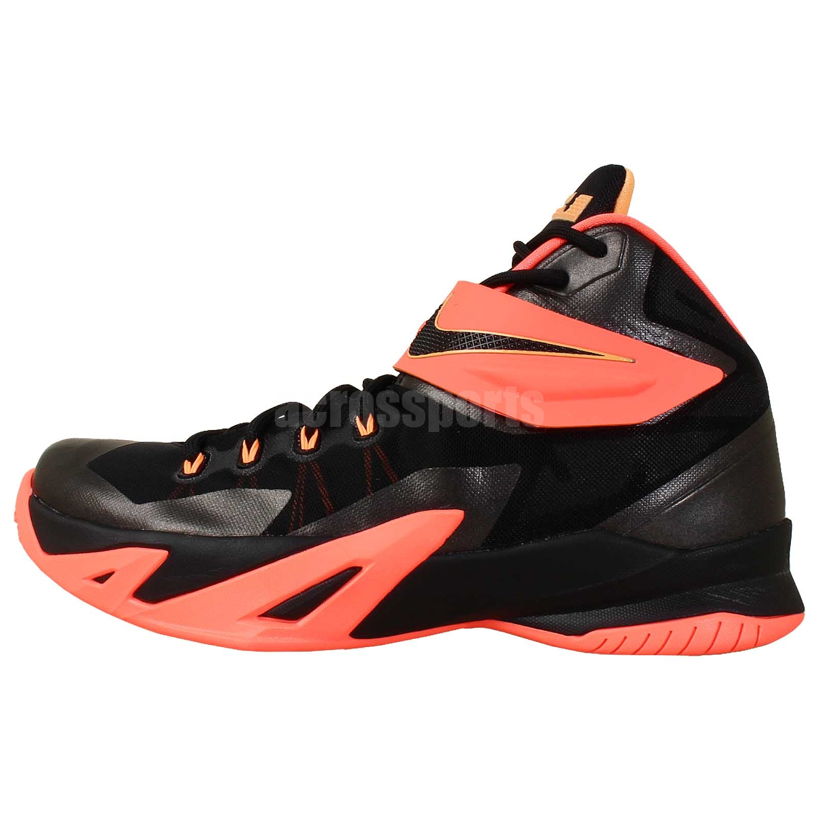 Nike Zoom Soldier VIII 8 Black Mango 2014 Lebron James ...