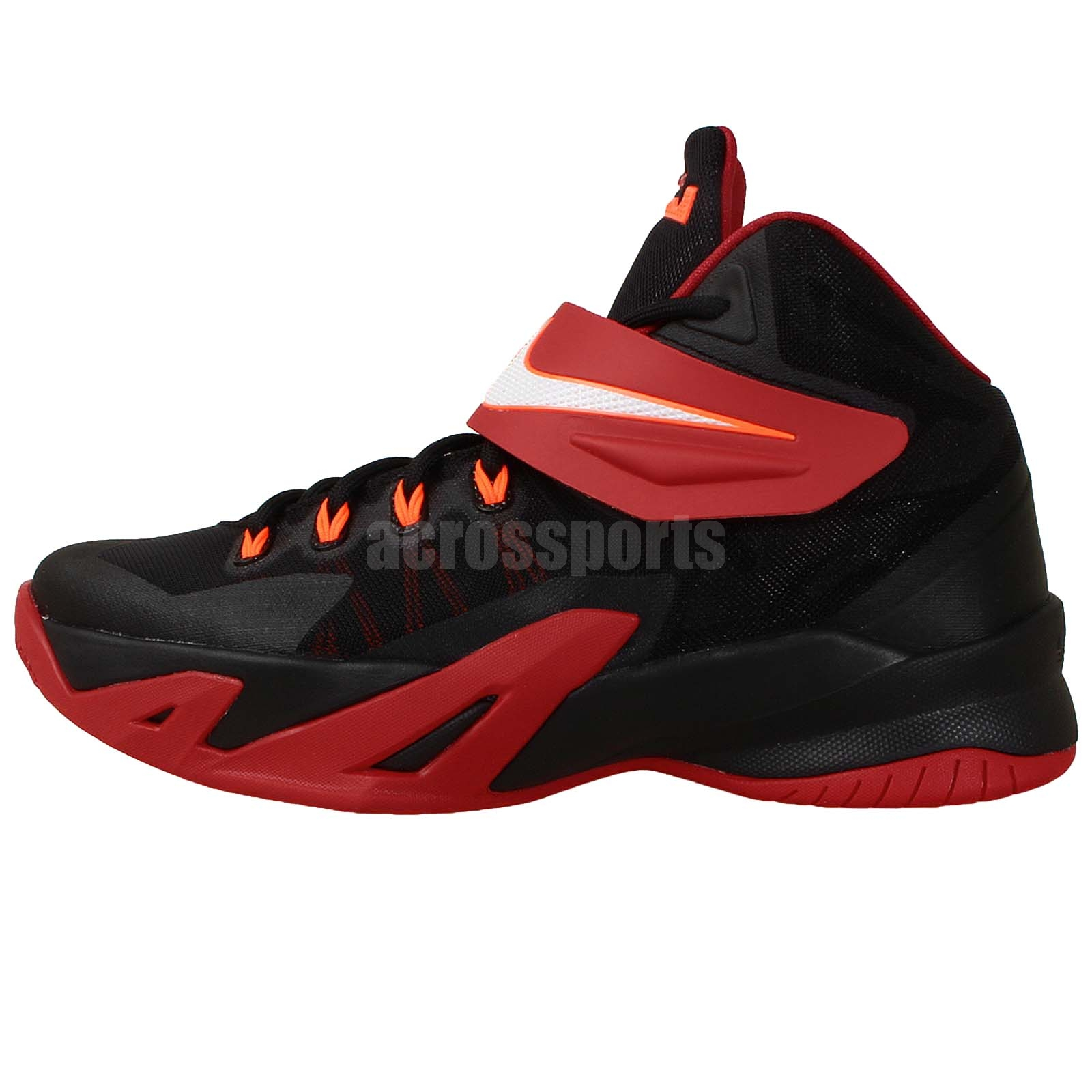Nike Soldier VIII 8 GS Black Red Lebron James 2014 Youth ...