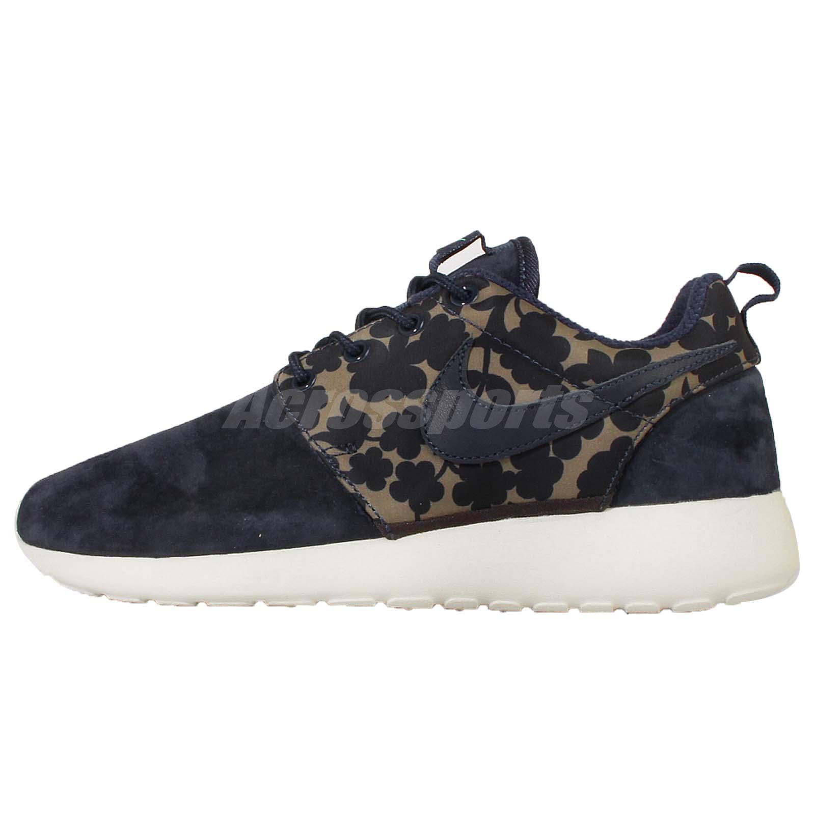 Wmns Nike Roshe One LIB QS Liberty Rosherun Navy Women Running Shoes 654165-300