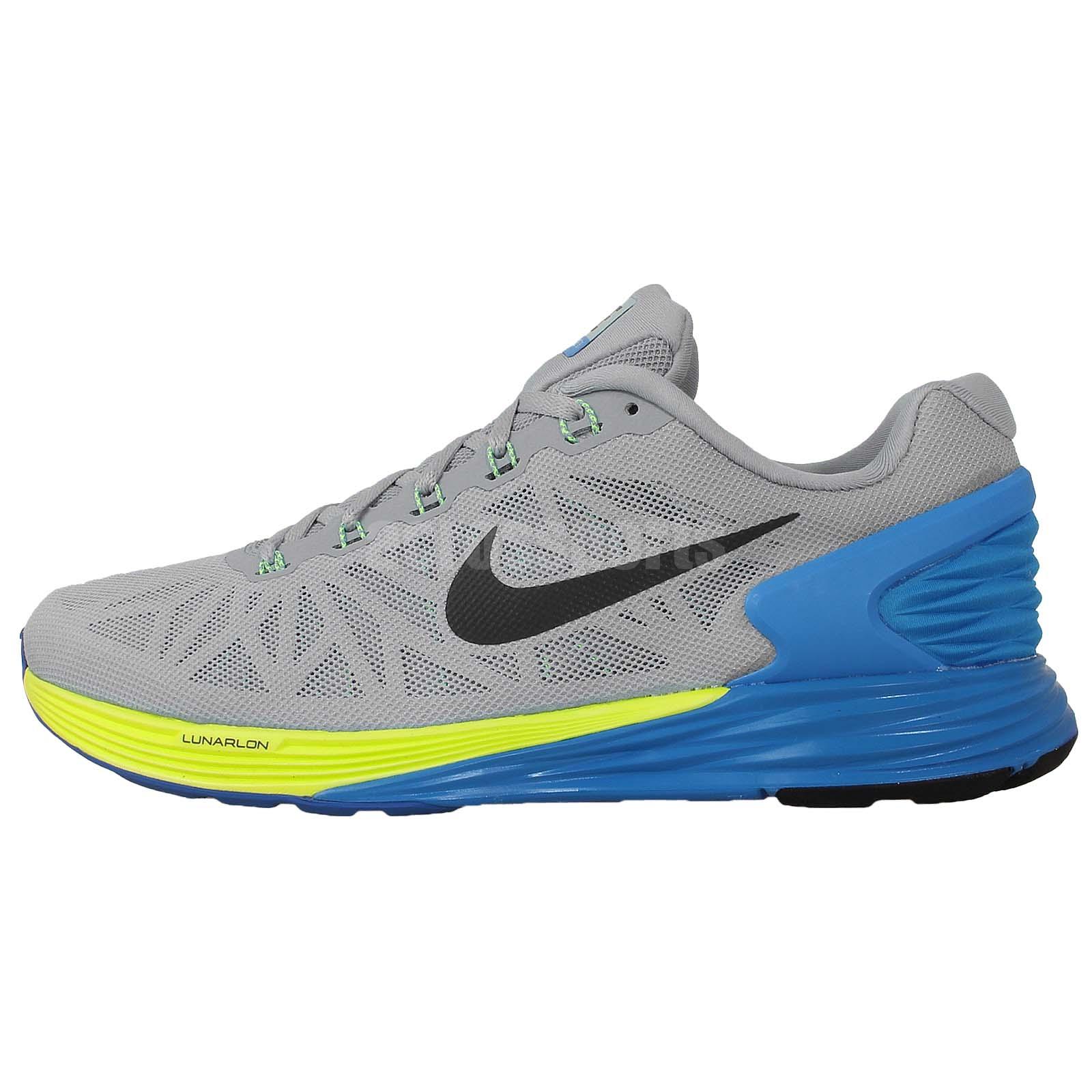 Nike Lunarglide 6 Grey Blue 2014 Mens Jogging Running ...