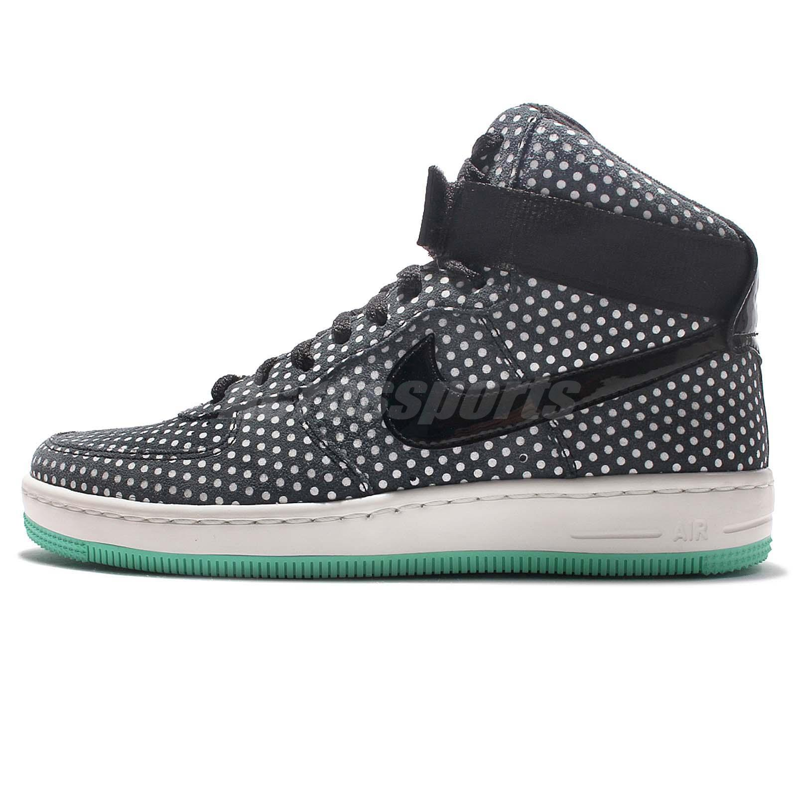 Nike Wmns AF1 Ultra Force Mid Air Force 1 Black Sail Polka Dots Women 654851011