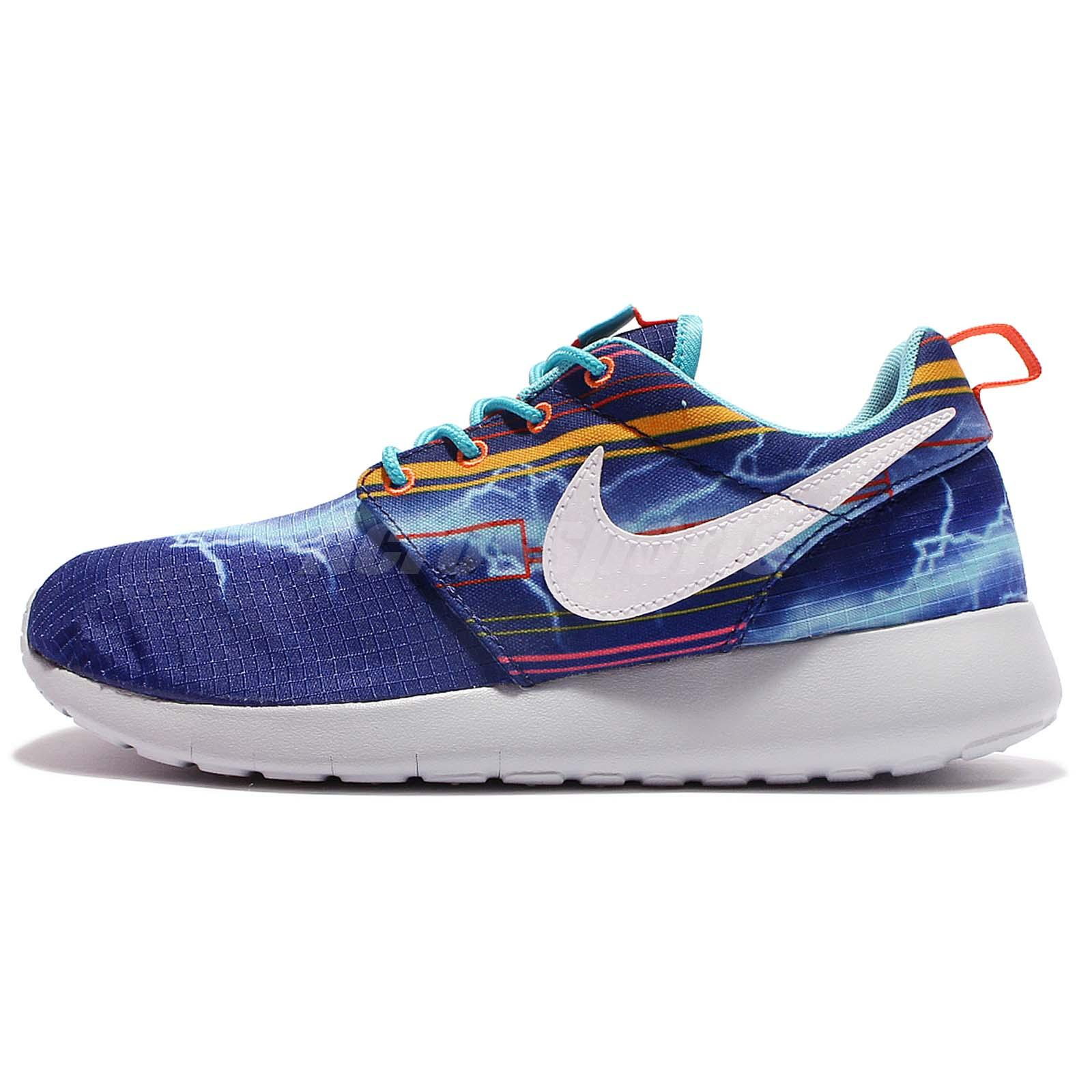 76eb025249525 ... Nike Roshe One Print GS Kids Youth Boys Girls Running Shoes Blue  677782-401 ...