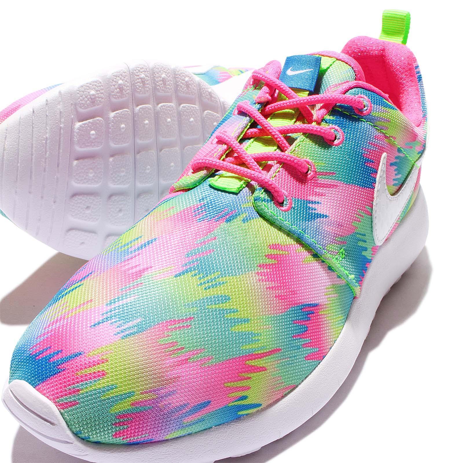 ... nike roshe one print gs multi color rosherun kids youth running