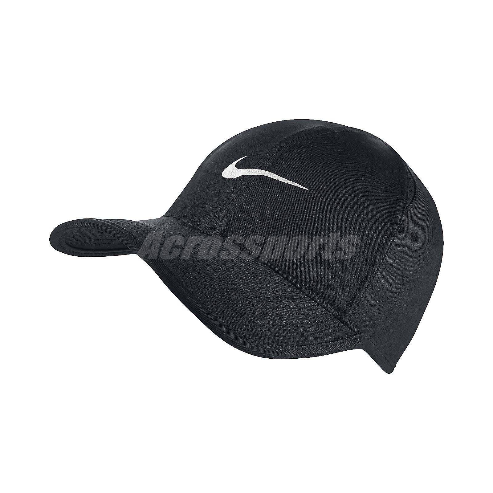 e395bcb364 Nike Aerobill Featherlight Dri-FIT Black White Unisex Tennis Cap Hat  679421-010