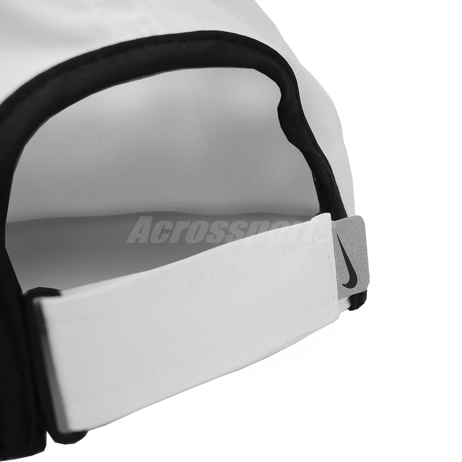 Nike Unisex Aerobill Featherlight Dri-FIT Tennis Cap Gym White Black ... 333b7fdbc7e6