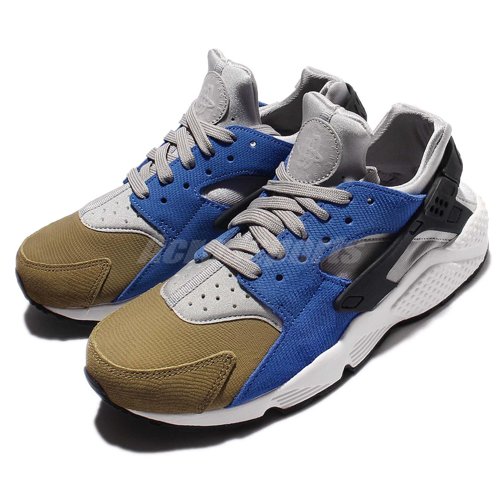 Nike Wmns Huarache Run PRM Premium Matte Silver Black Women Shoes 683818007