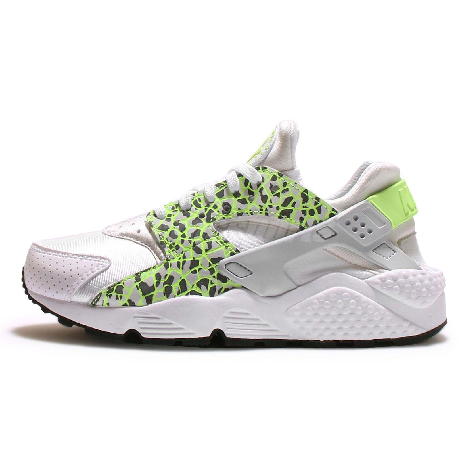 Wmns Nike Air Huarache Run PRM Premium White Green Women Running 683818101