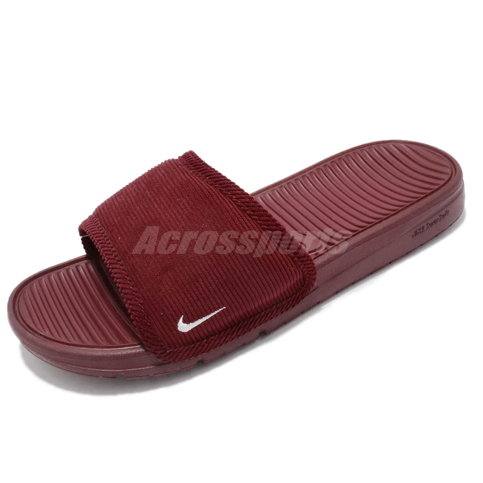 795b6c6051c Nike Benassi Solarsft Slide SP Corduroy Textile Pack Red Men Sandals  696116-616
